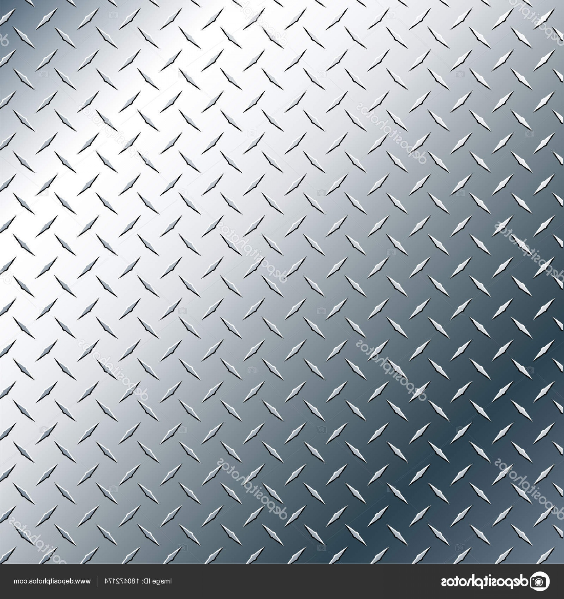 Diamond Plate Vector Pattern: Stock Illustration Chrome Diamond Plate Realistic Vector