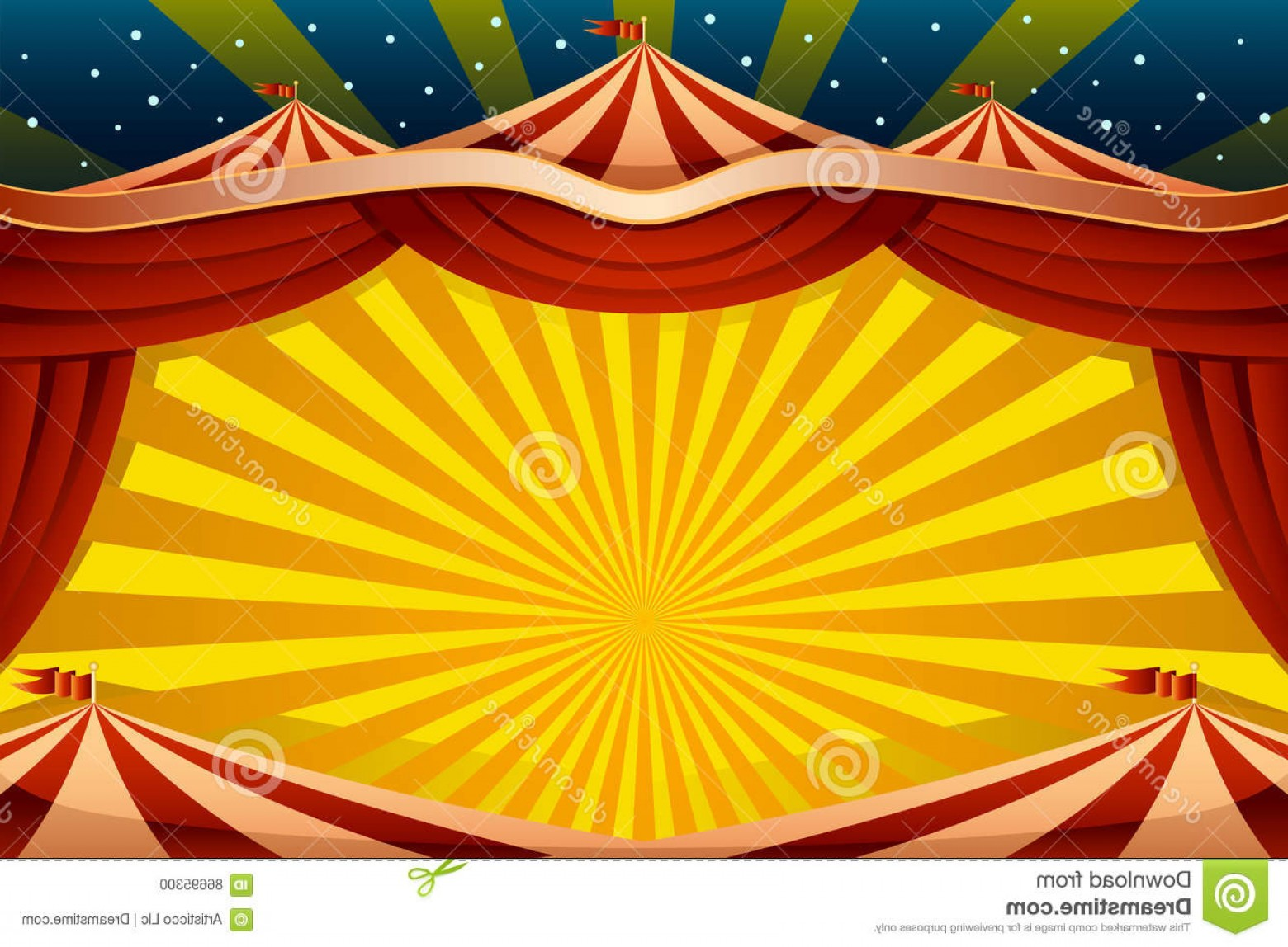 Circus Background Vector: Stock Illustration Circus Tent Background Vector Illustration Image