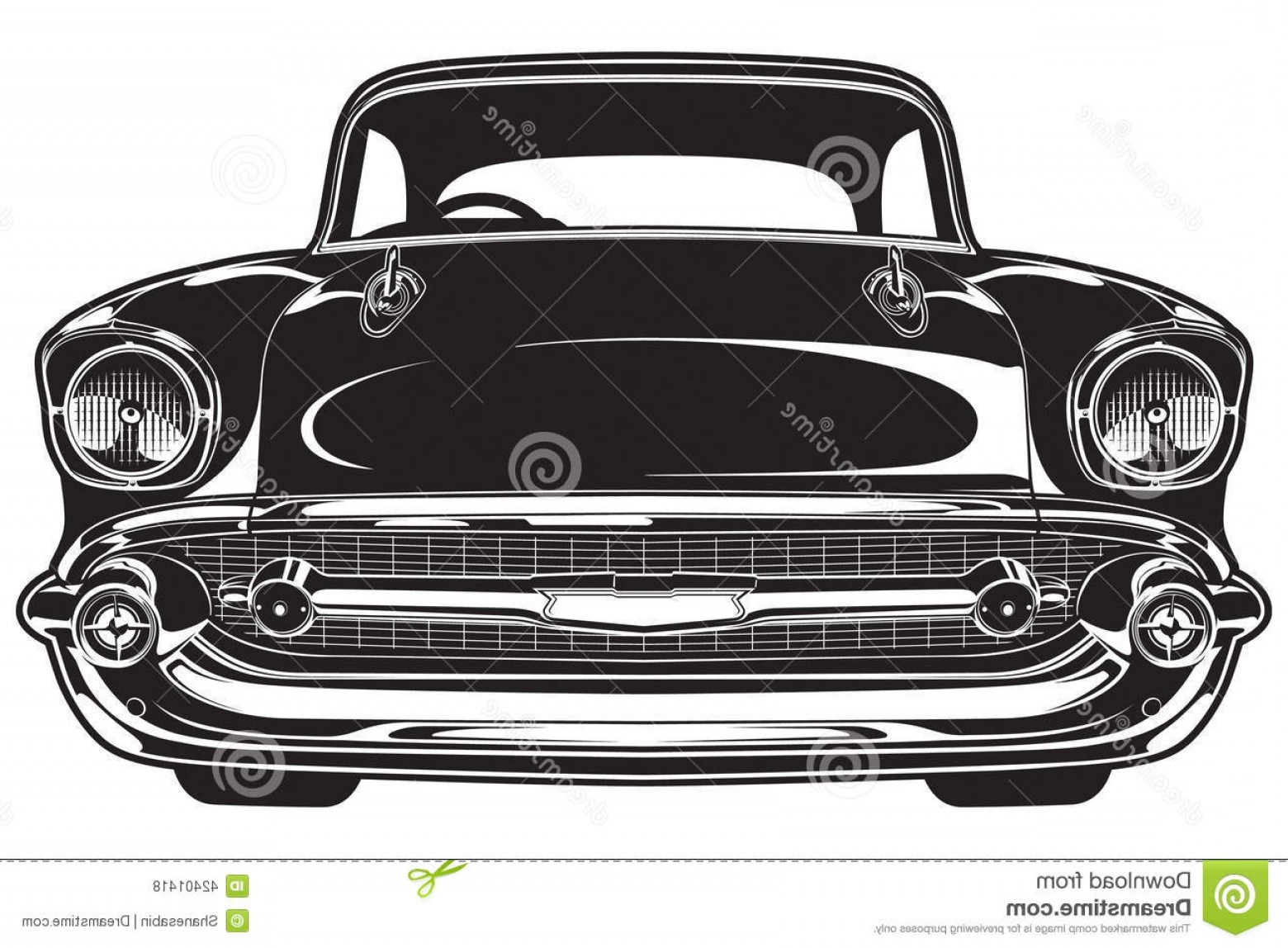 Race Car Grill Vector: Stock Illustration Classic Car Front Illustration Image