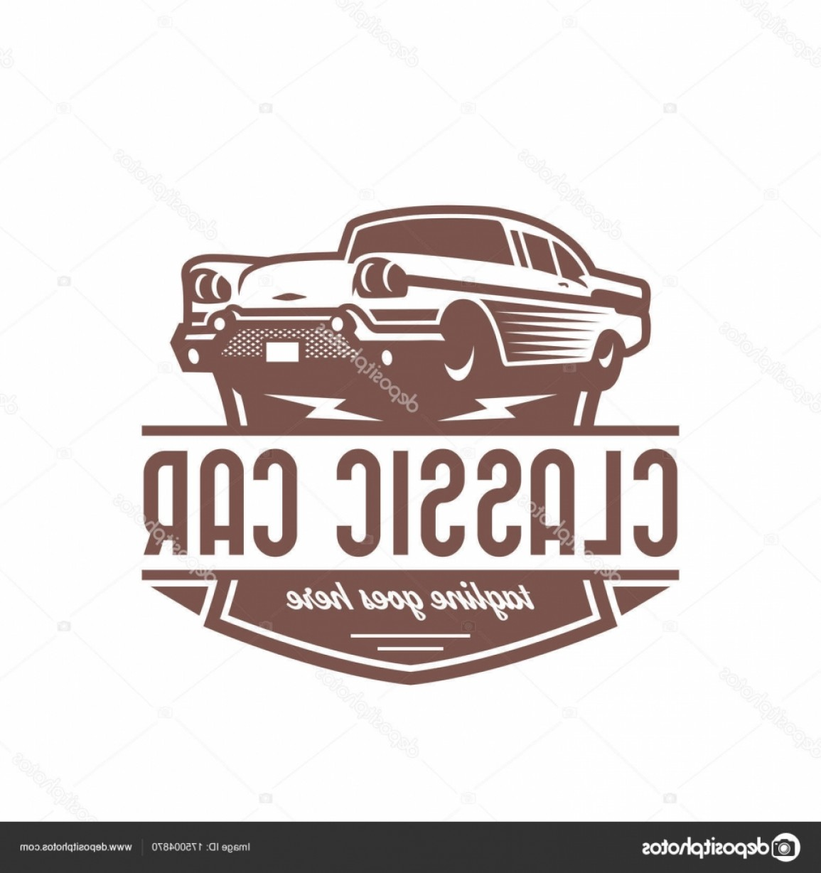Ford Falcon Logo Vector: Stock Illustration Classic Car Logo Template Vintage