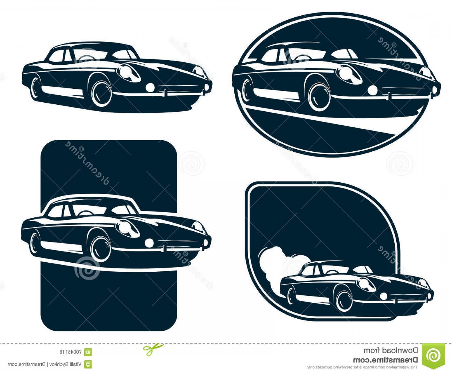 Car Silhouette Vector Free: Stock Illustration Classic Car Silhouette Labels Vintage Retro Car Vector Classic Sports Car Sport Image