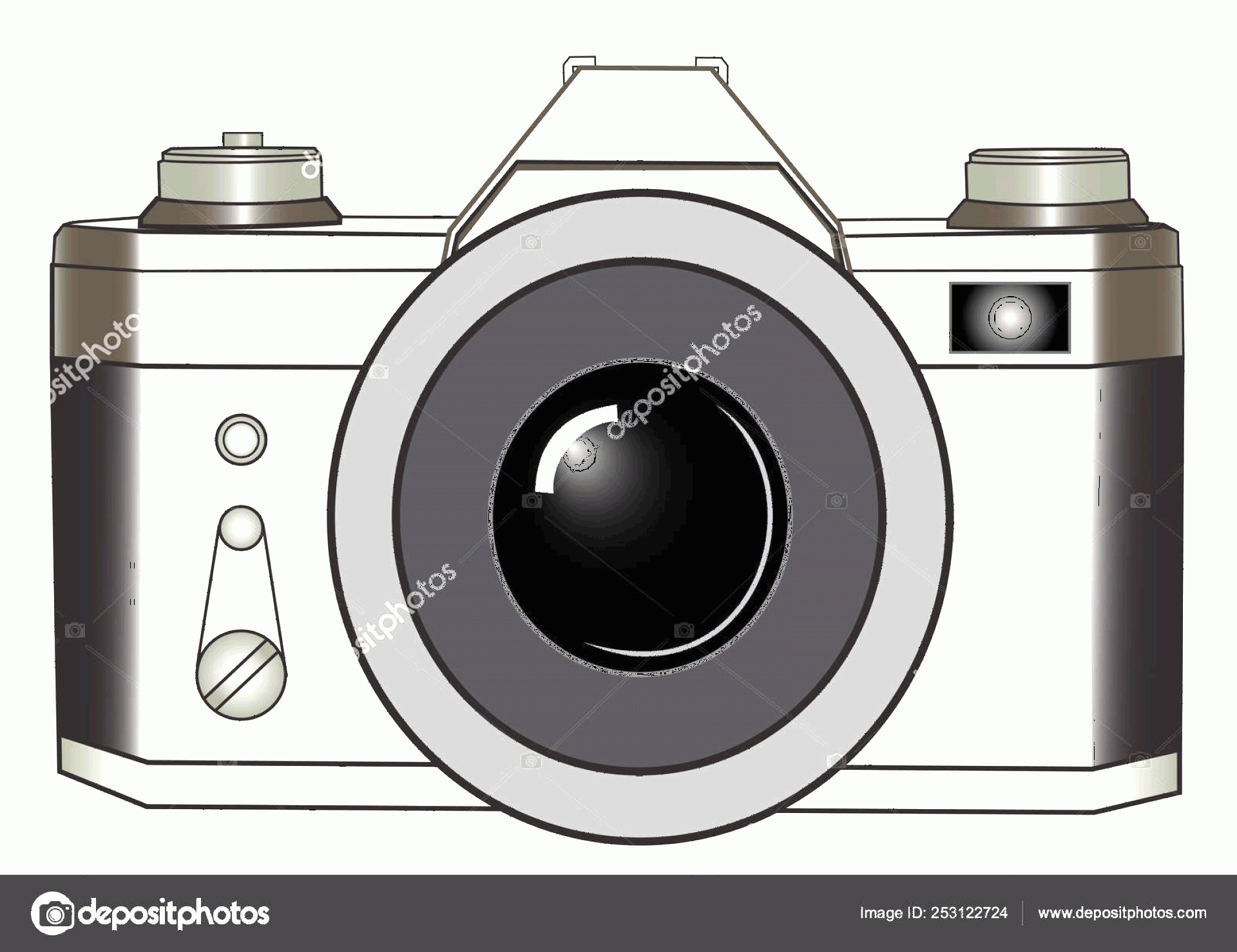 Classic Camera Vector: Stock Illustration Classic Slr Photo Camera