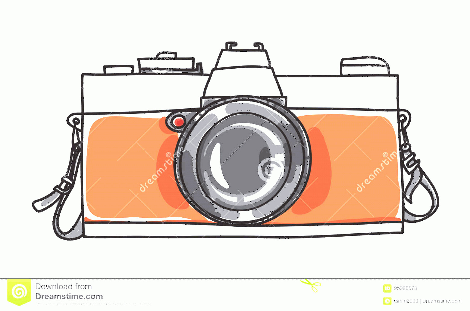 Classic Camera Vector: Stock Illustration Classic Vintage Camera Hand Drawn Art Vector Illustration Image