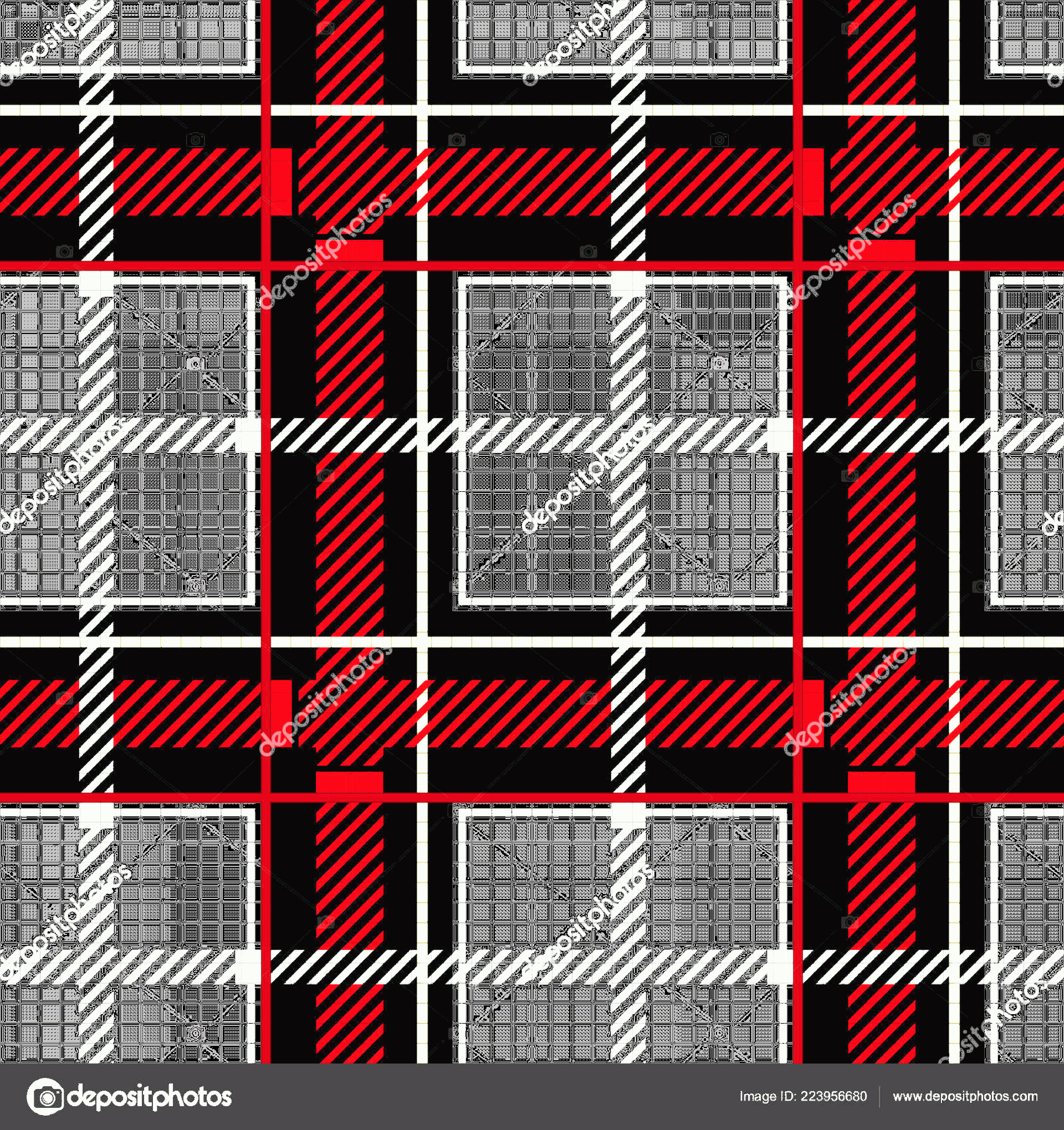Plaid Vector: Stock Illustration Classical Shirt Seamless Pattern Checkered