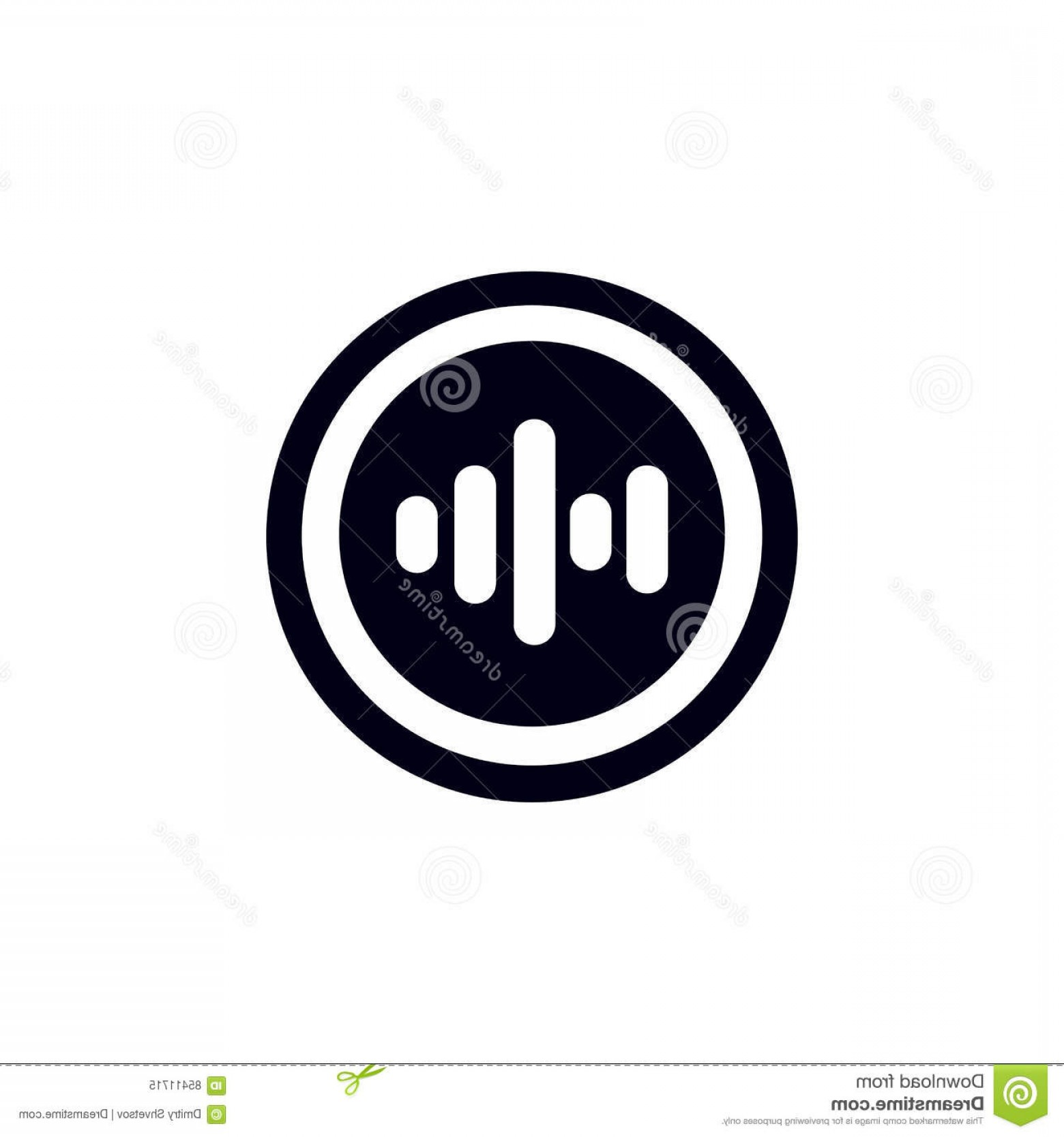 Volume Button Vector: Stock Illustration Clean Music Volume Button Vector Design Image