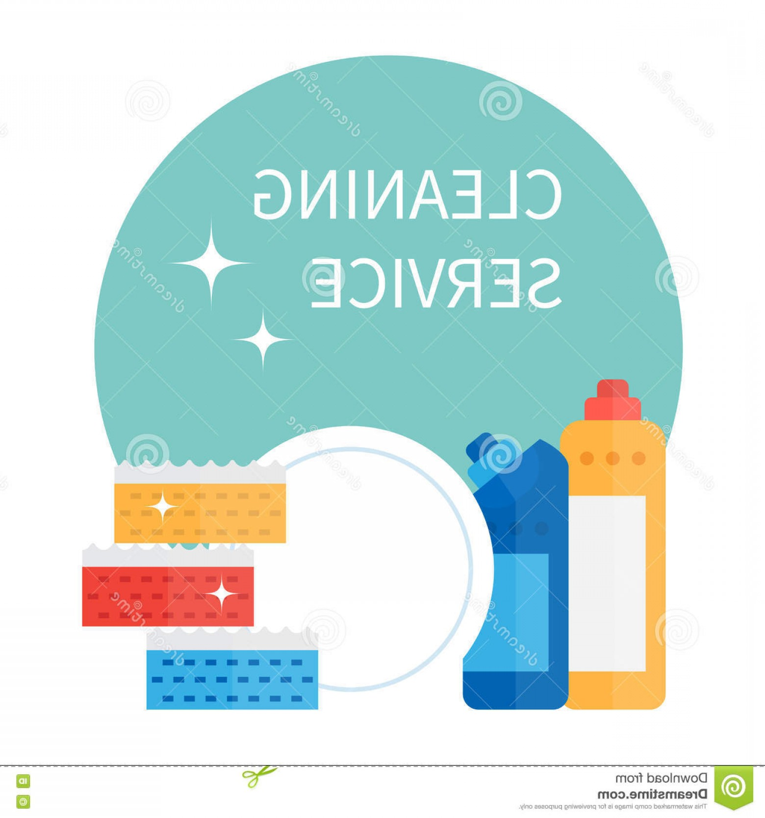 Cleaning Vector Janitorail: Stock Illustration Cleaning Supplies Household Equipment Tools Janitorial Service Vector Icons Set Image