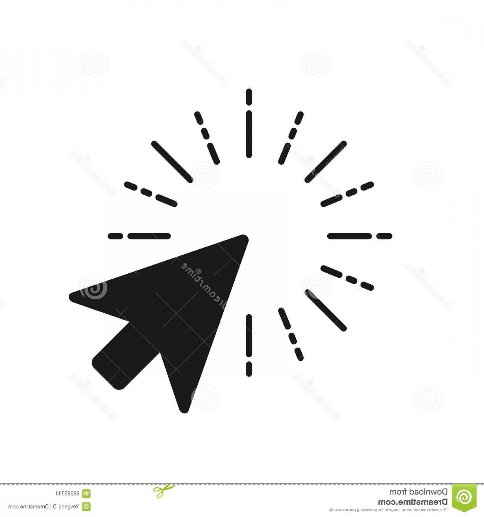 Computer Pointer Vector: Stock Illustration Click Icon Computer Mouse Pointer Arrow Vector Image