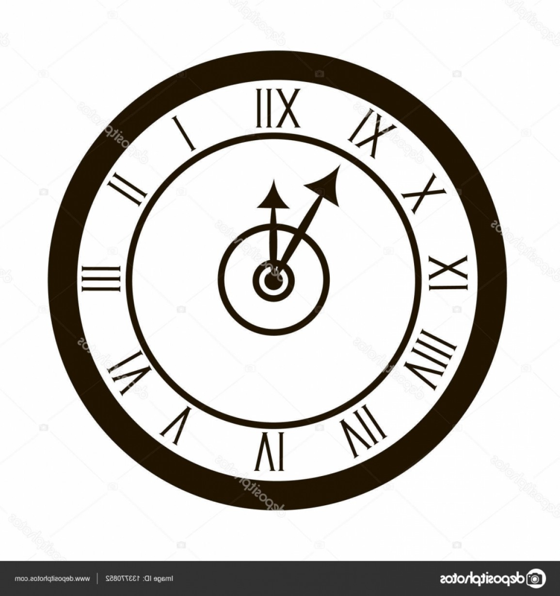Watch Face Vector: Stock Illustration Clocks Face Dial Watch Alarm