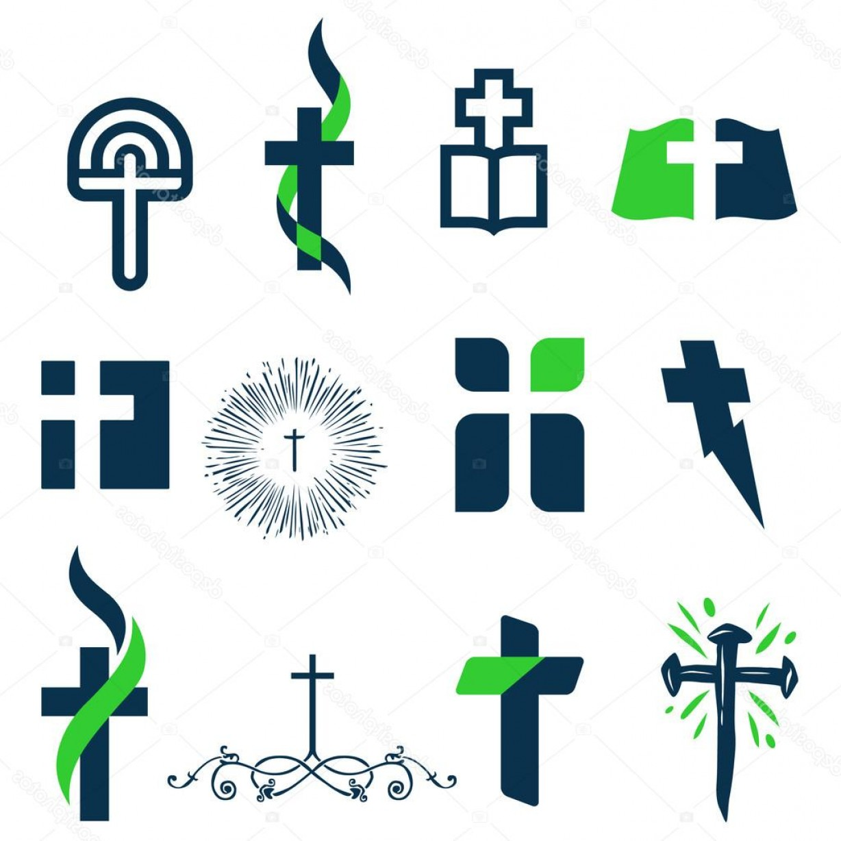 Cross Vector Logos: Stock Illustration Collection Of Cross Logos