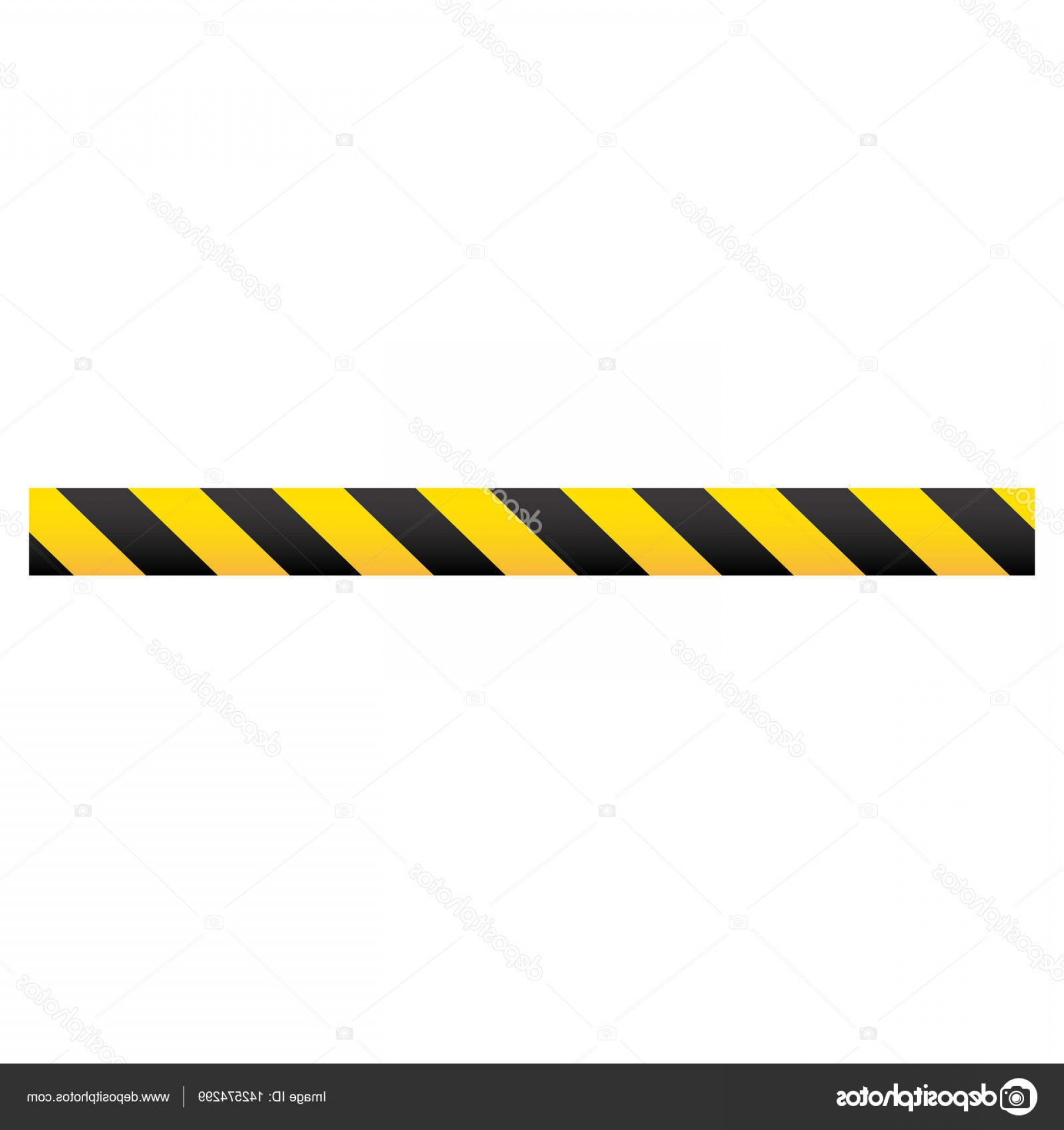 Caution Stripes Vector: Stock Illustration Color Silhouette With Warning Tape
