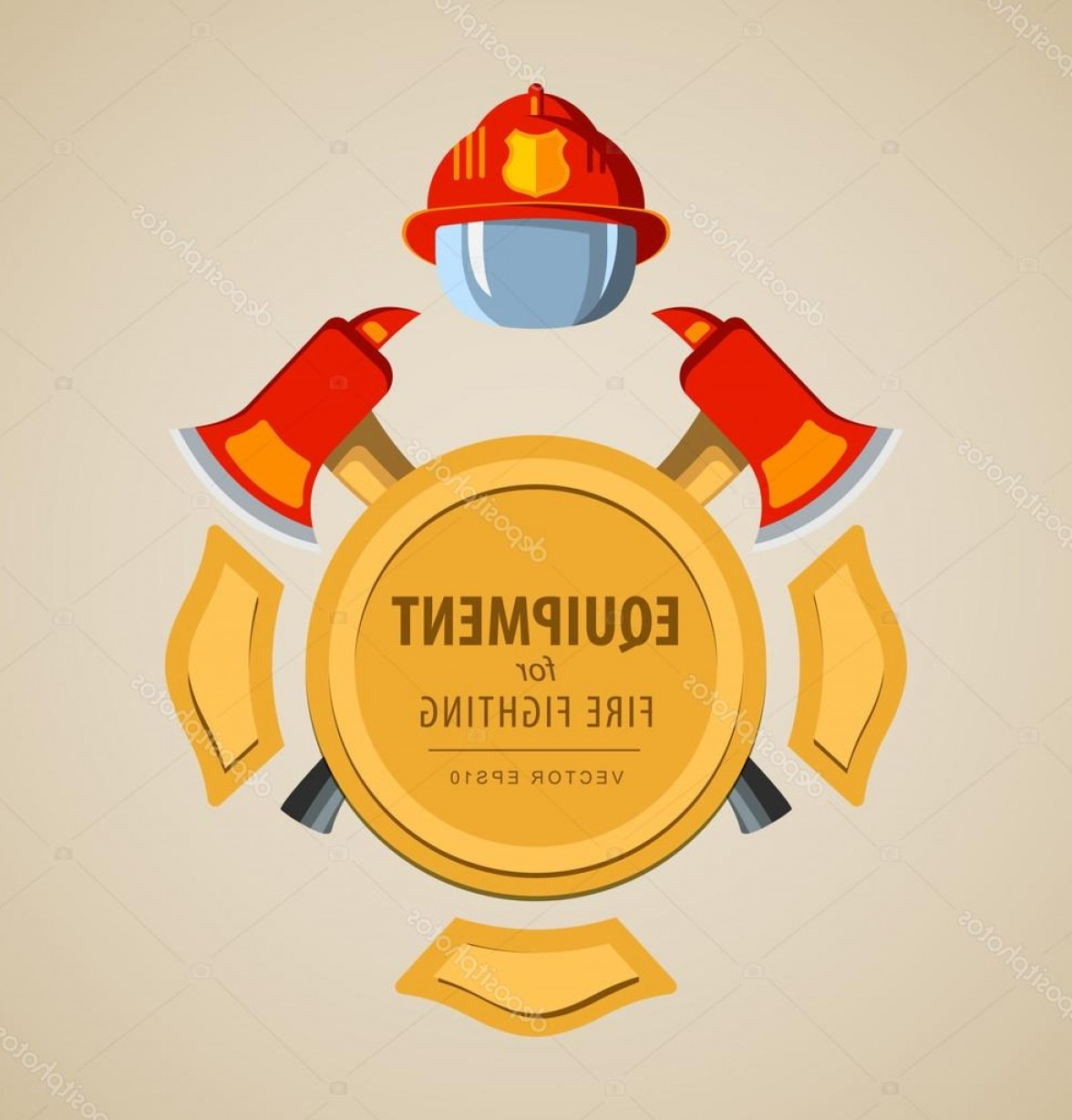 Fire Maltese Vector: Stock Illustration Colored Vector Illustration Icon Firefighter