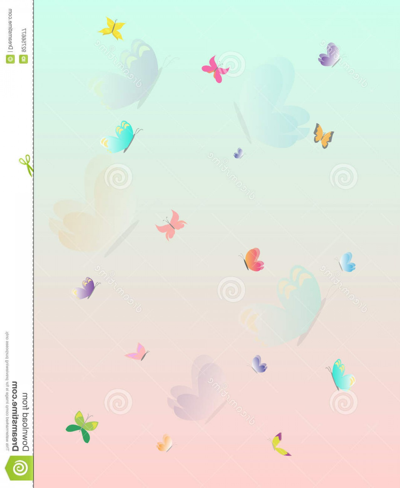 Purple Butterfly Wallpaper Vector: Stock Illustration Colorful Butterfly Summer Splash Beautiful Wallpaper Layered Vector Illustration Pink Blue Orange Purple Image