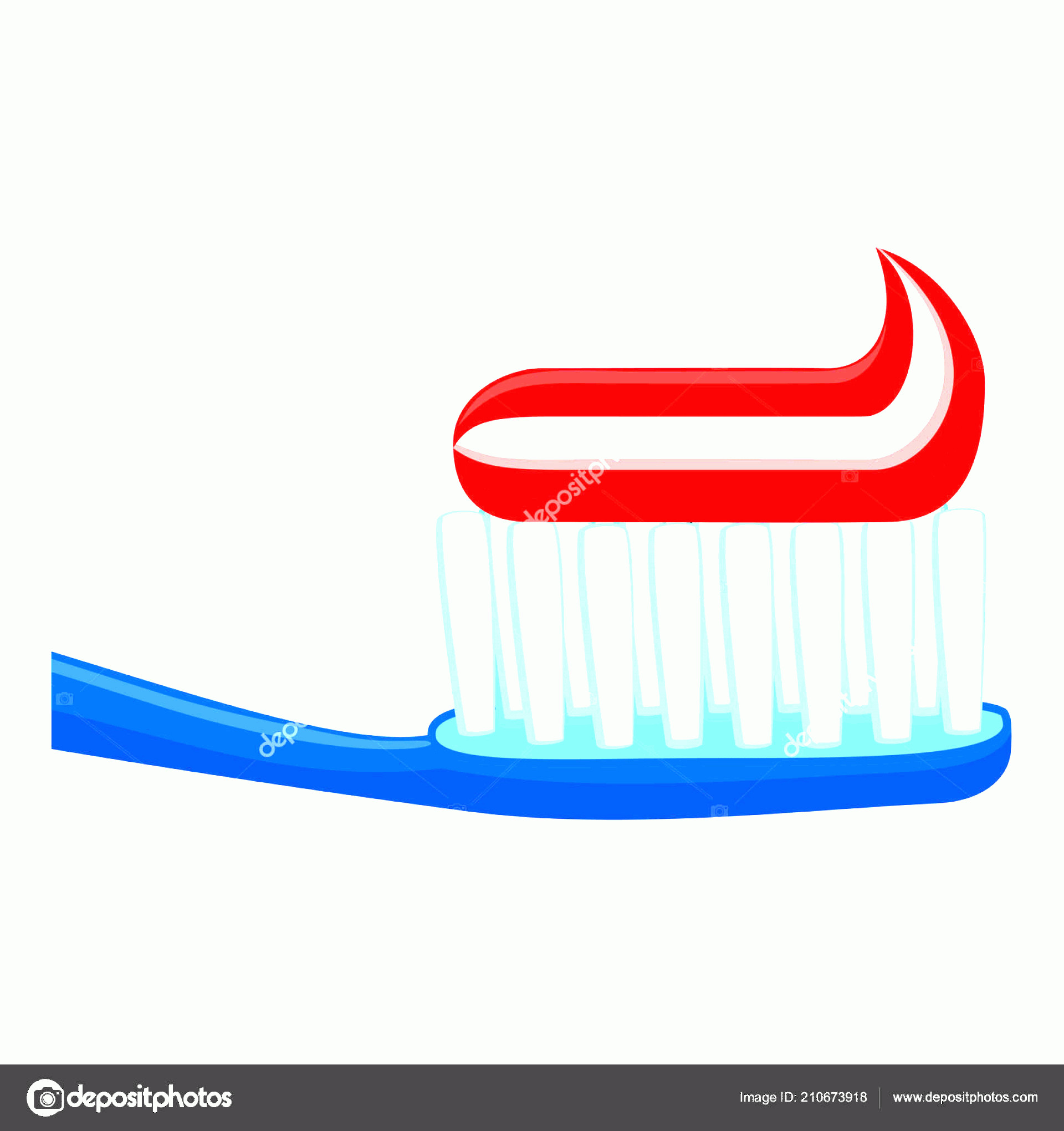 Toothpaste Cartoon Vector: Stock Illustration Colorful Cartoon Toothbrush Toothpaste