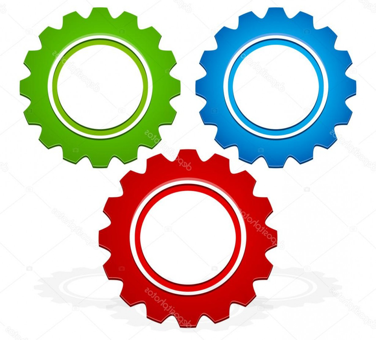 Vector Gear Graphics: Stock Illustration Colorful Gear Composition Vector Graphics