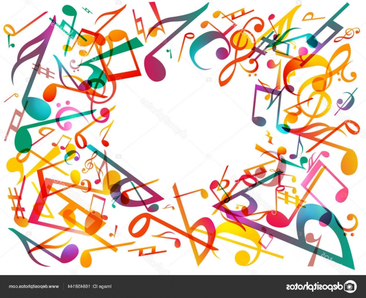 Vector Graphix: Stock Illustration Colorful Music Notes Vector Illustration