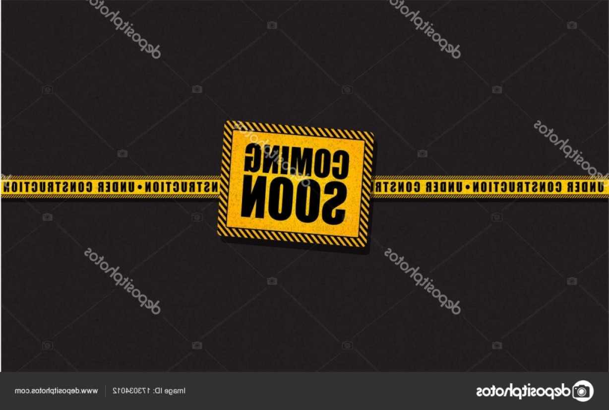 Vector Under Construction Template: Stock Illustration Coming Soon And Under Construction