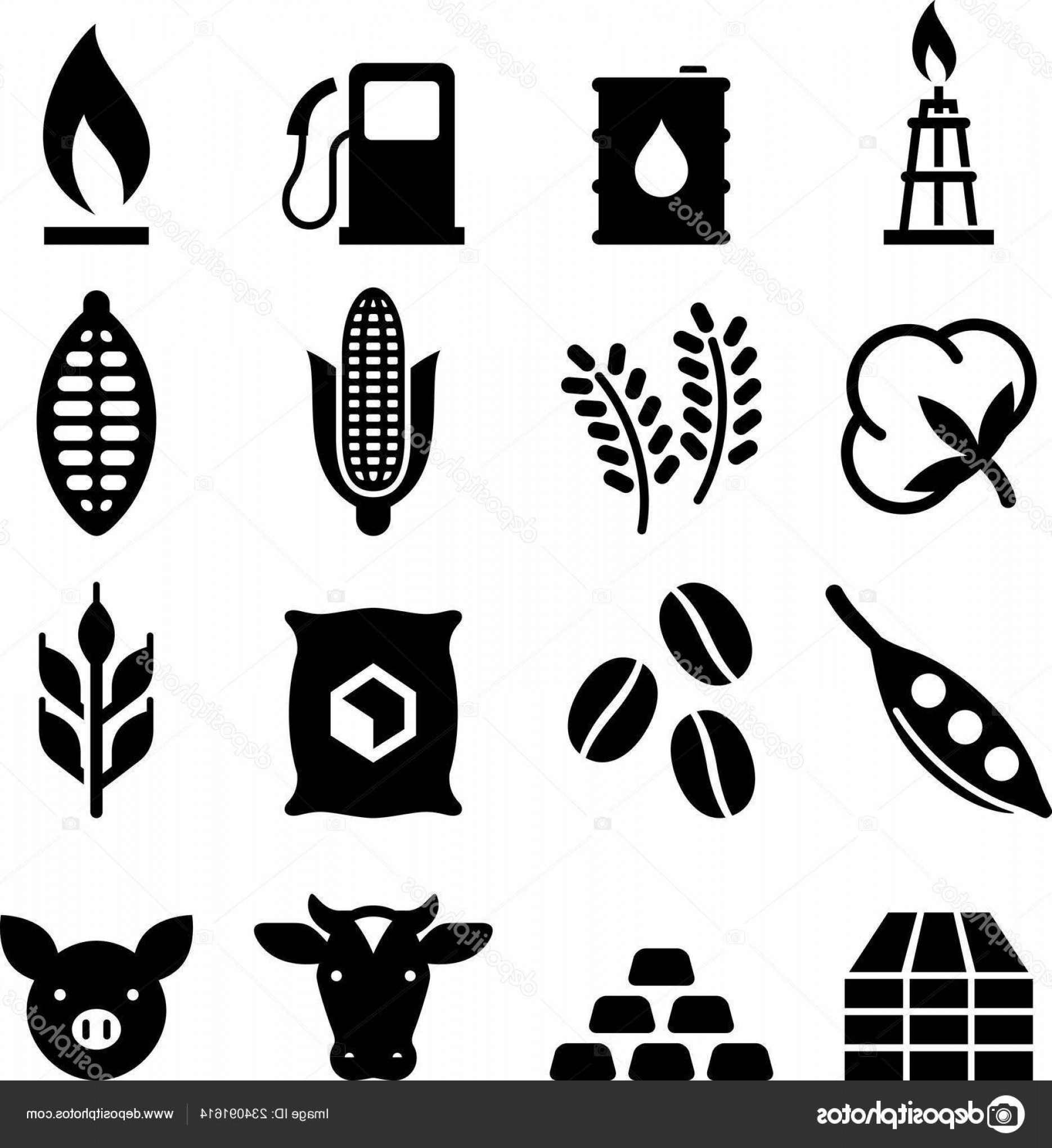 In Icon Stock Vector: Stock Illustration Commodities Trading Icon Set Vector