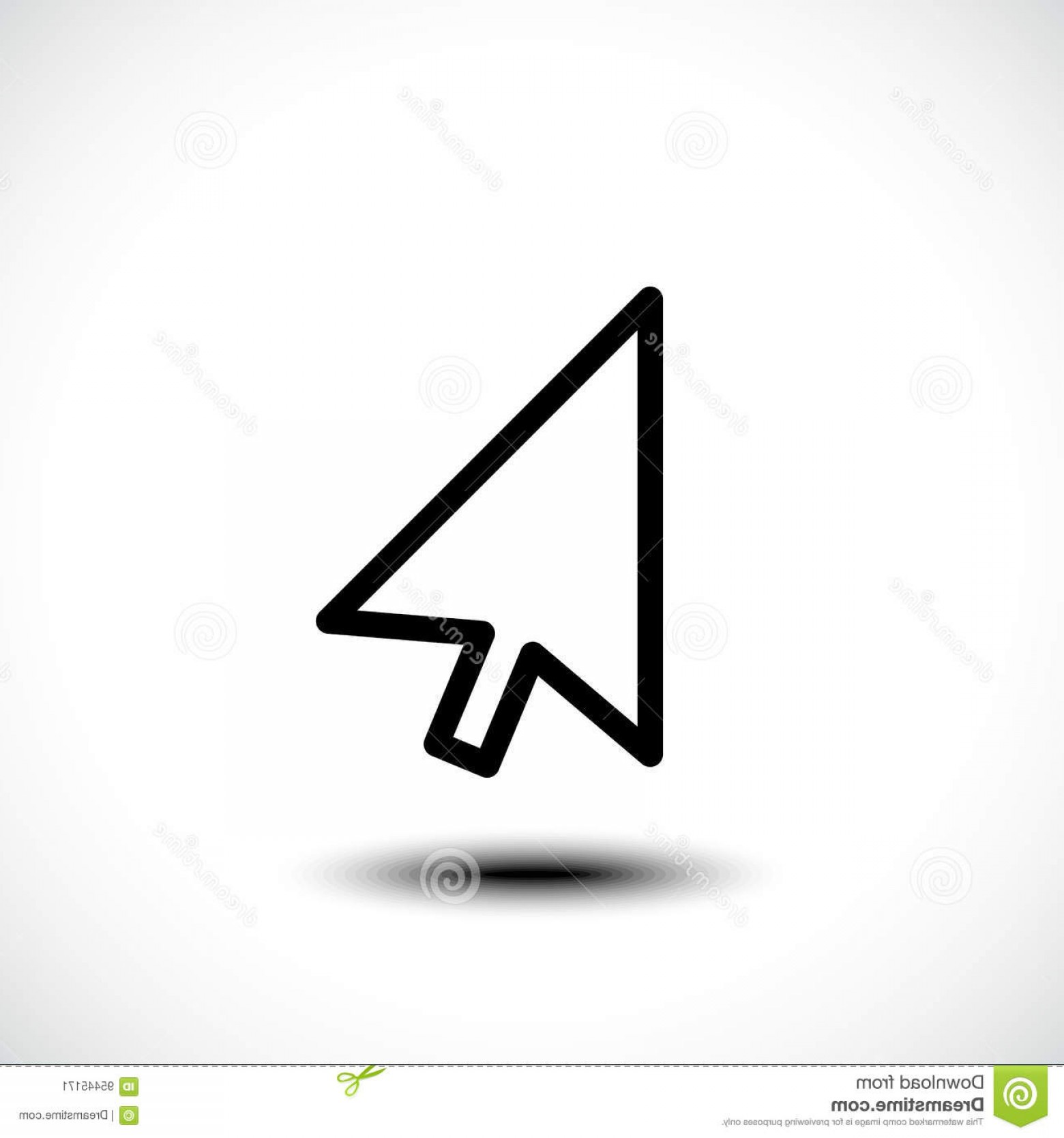 Computer Pointer Vector: Stock Illustration Computer Mouse Click Pointer Cursor Arrow Flat Icon Eps Image