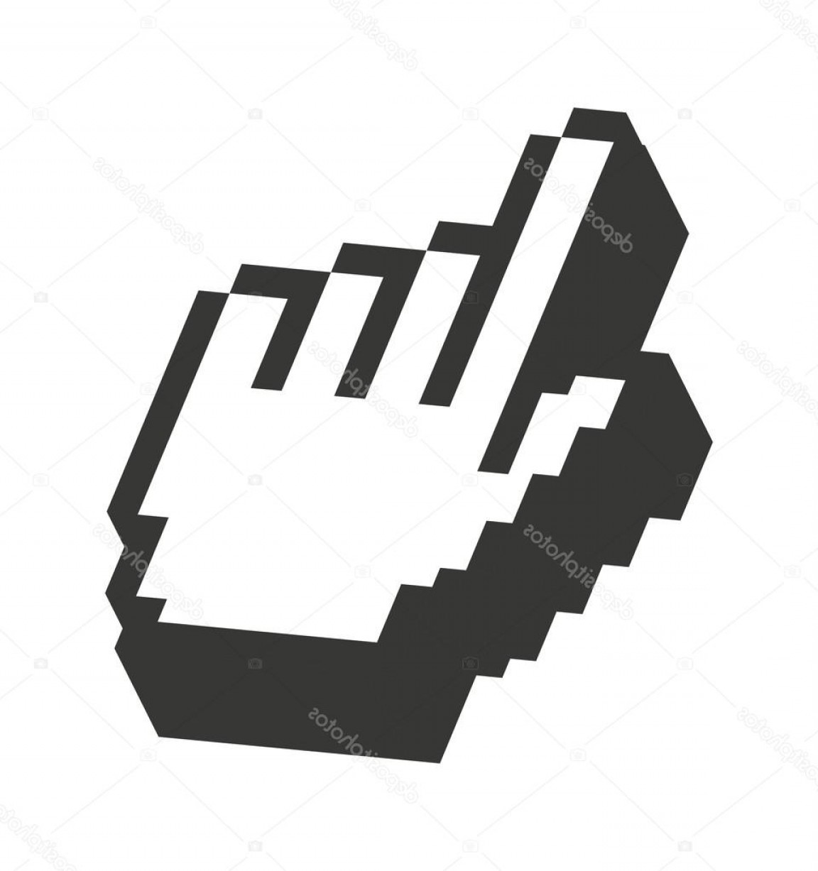 Computer Pointer Vector: Stock Illustration Computer Mouse Hand Pointer Isolated