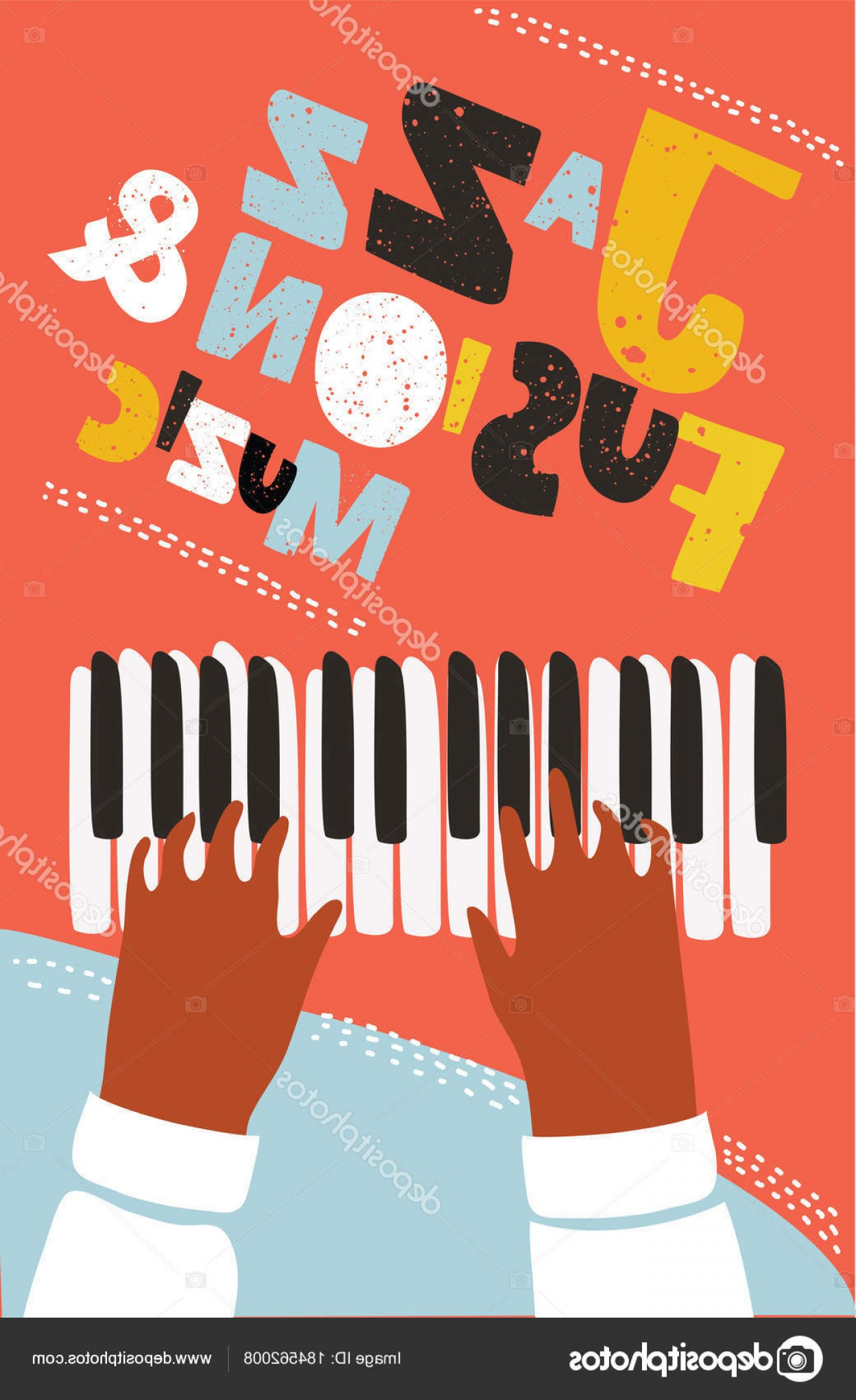 Musical Keyboard Vector: Stock Illustration Concept Modern Music Poster Vector