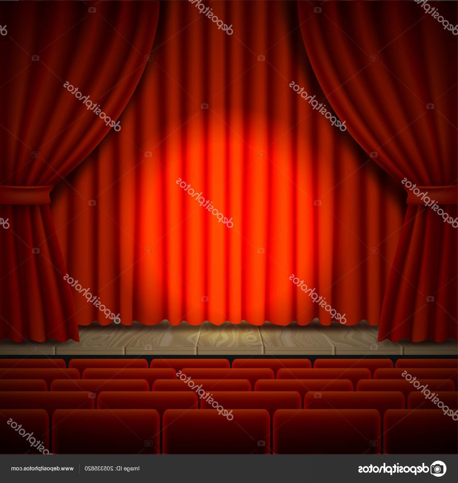 Vector Stage Audience: Stock Illustration Concert Stage Vector Realistic Illustration