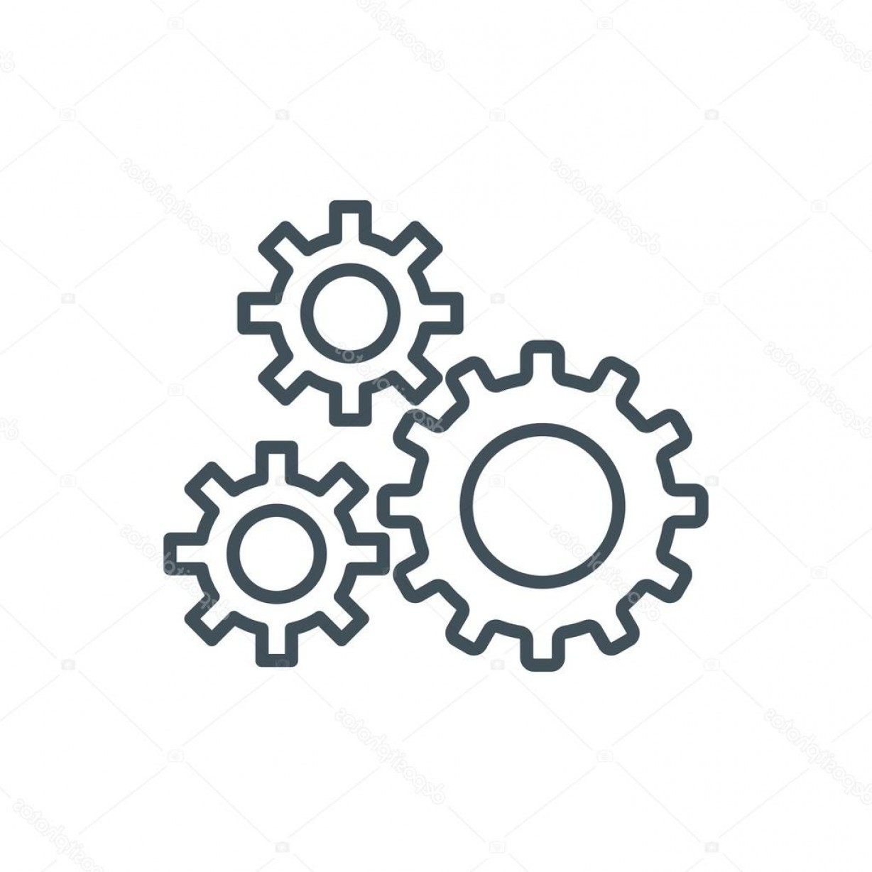 Vector Gear Graphics: Stock Illustration Content Management Gears Icon