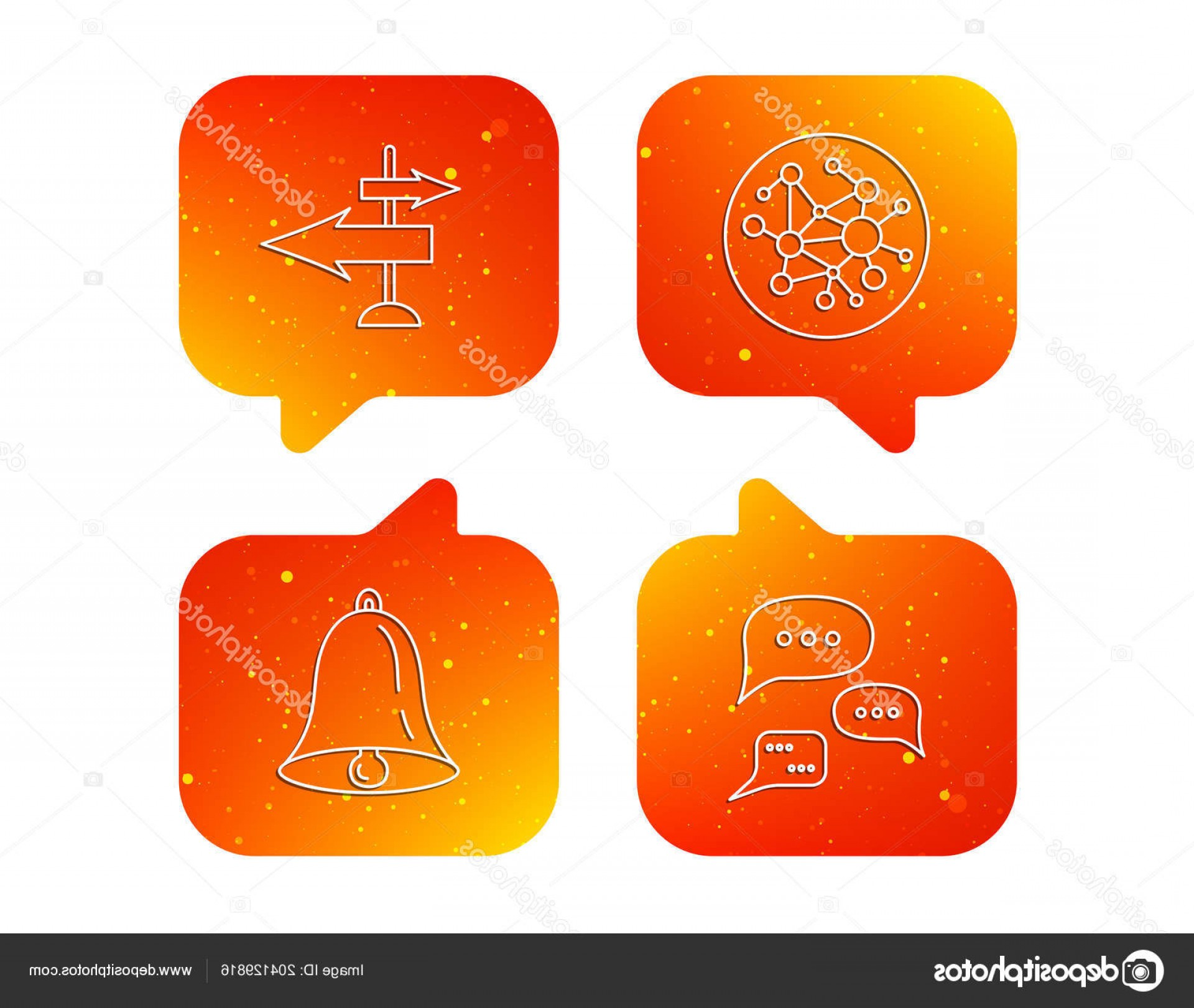 Vector Signal Direction: Stock Illustration Conversation Global Network And Direction