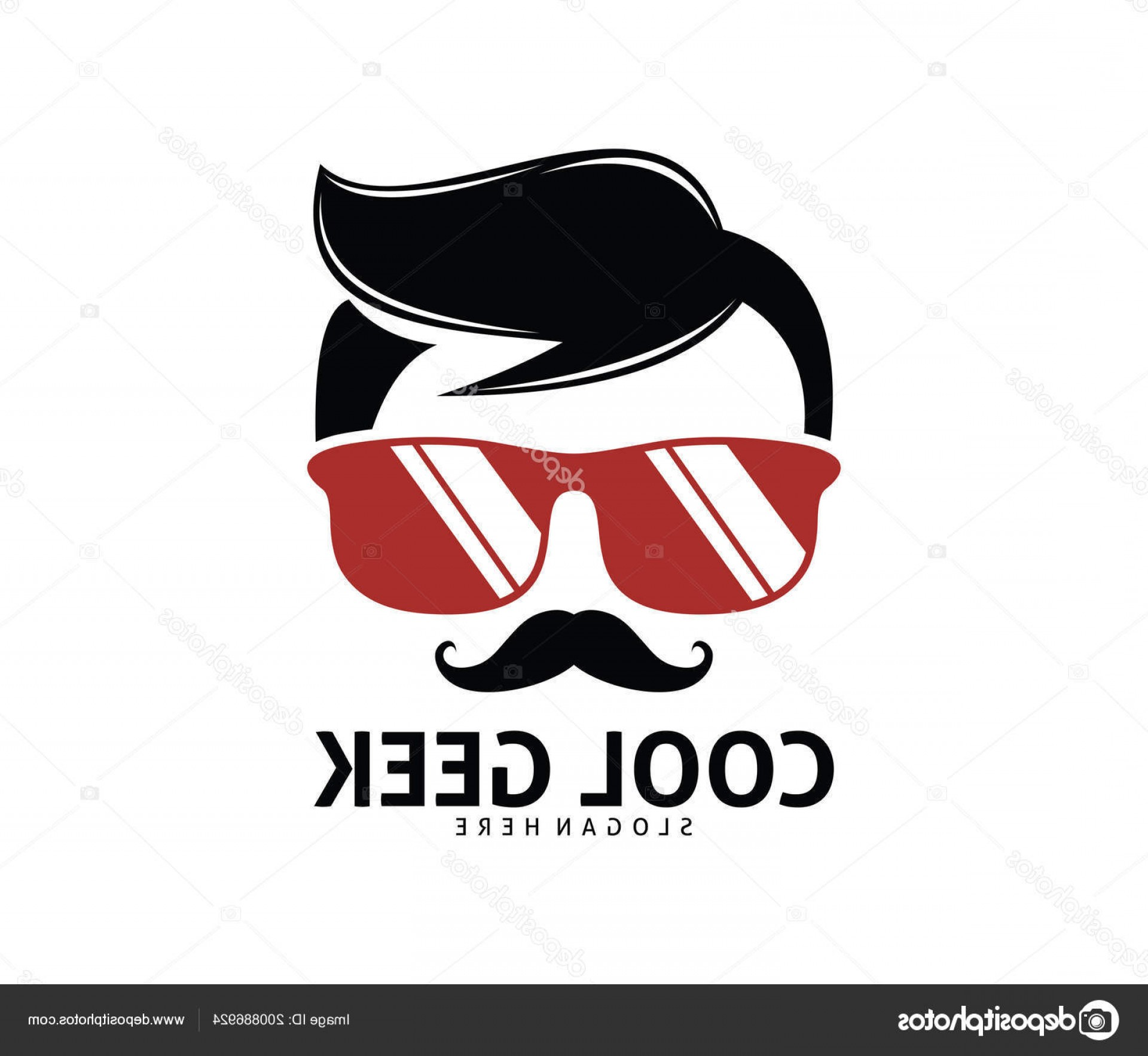 Nerd Vector: Stock Illustration Cool Geek Guy Nerd Vector