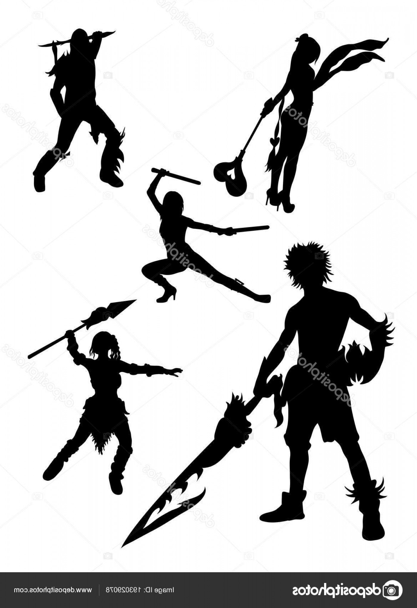 Vector Cosplay: Stock Illustration Cosplay Detail Silhouette Good Use