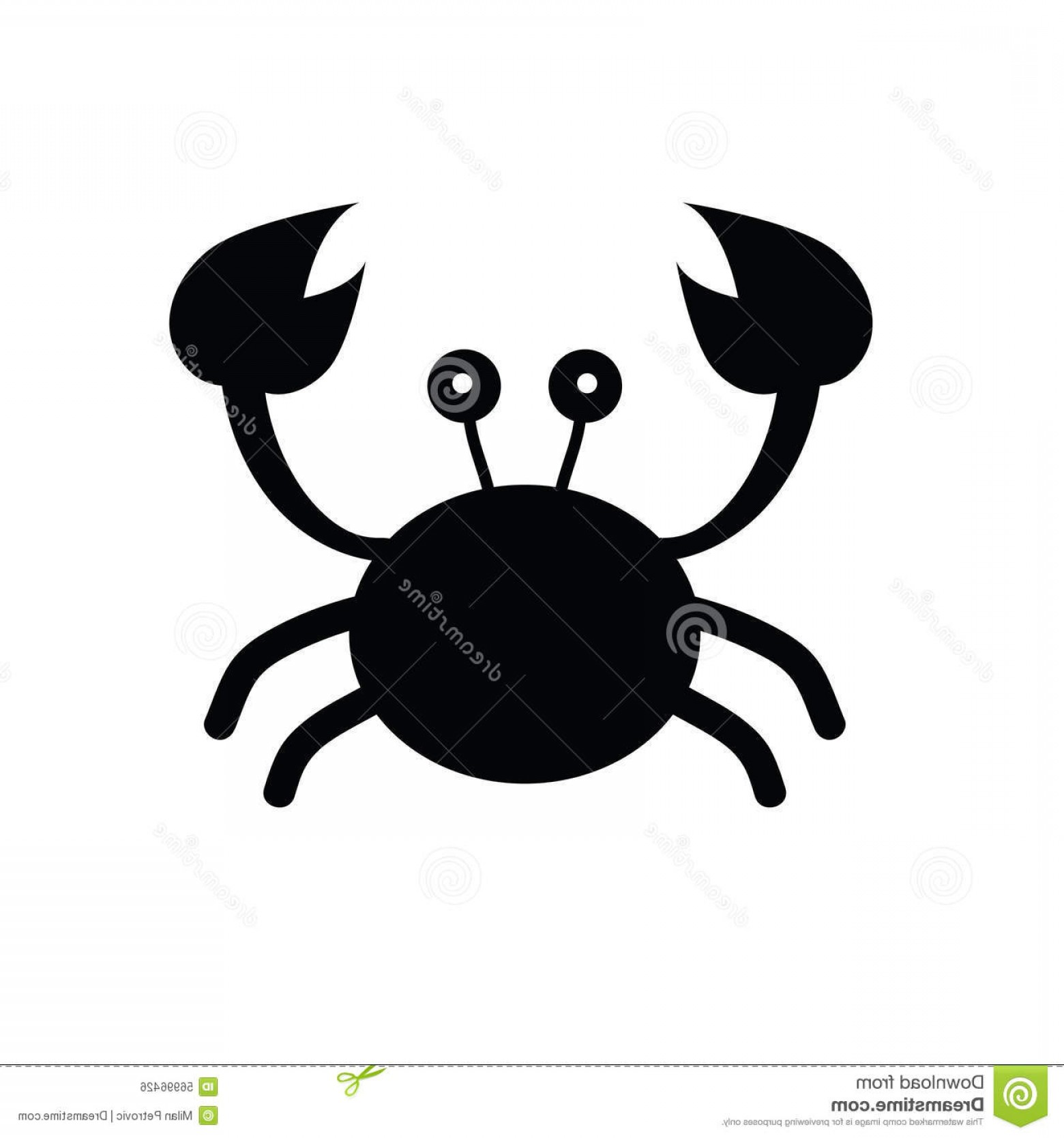 Crab Vector Black: Stock Illustration Crab Cartoon Black Vector Illustration Image