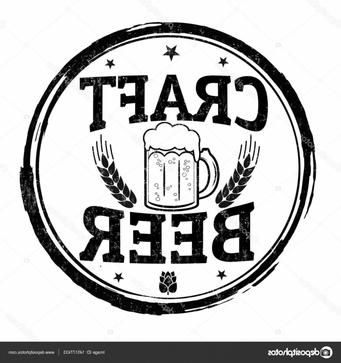 GMP Logo Vector: Stock Illustration Craft Beer Sign Or Stamp