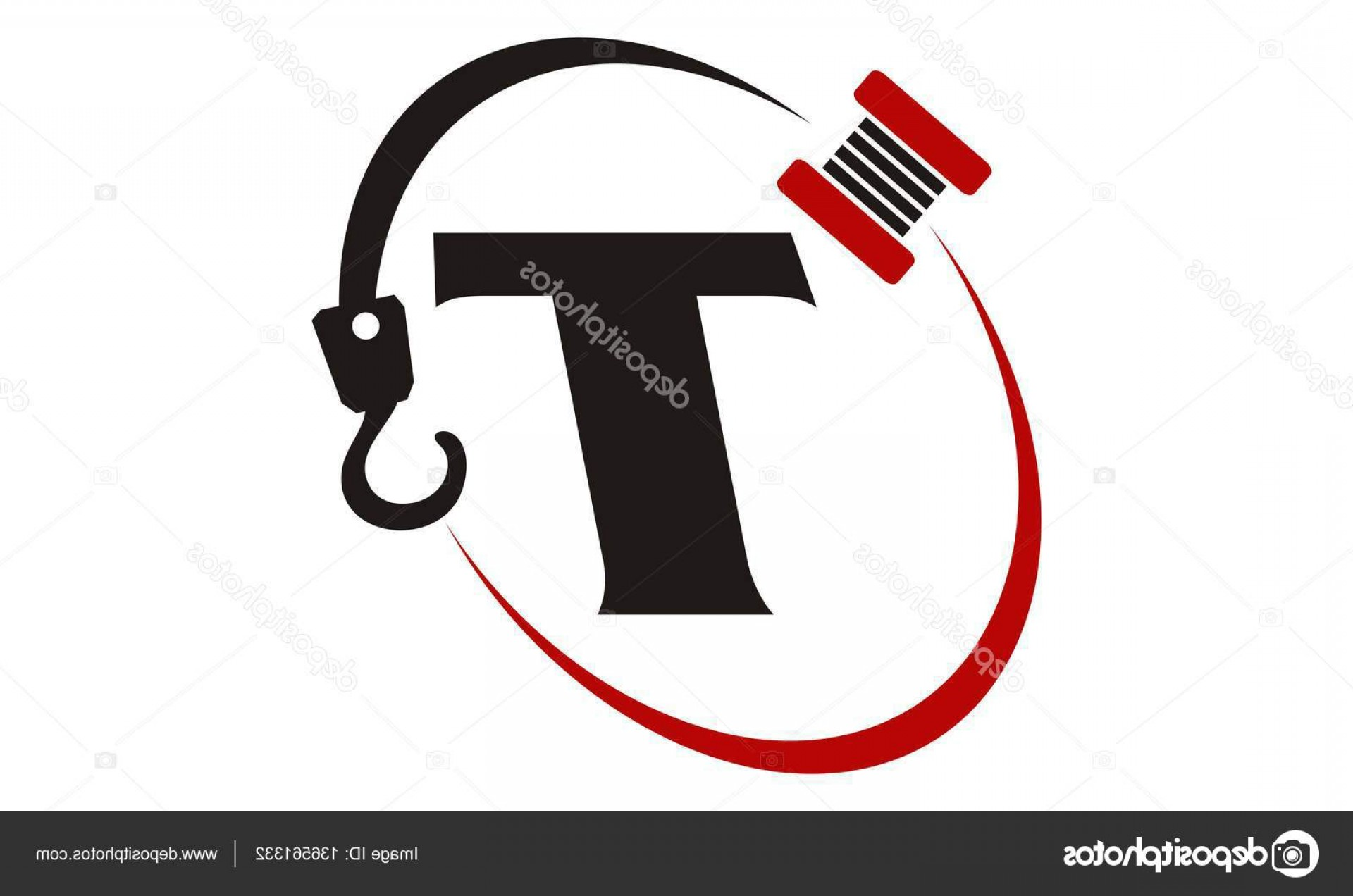 Tow Hook Vector Art: Stock Illustration Crane Hook Towing Letter T