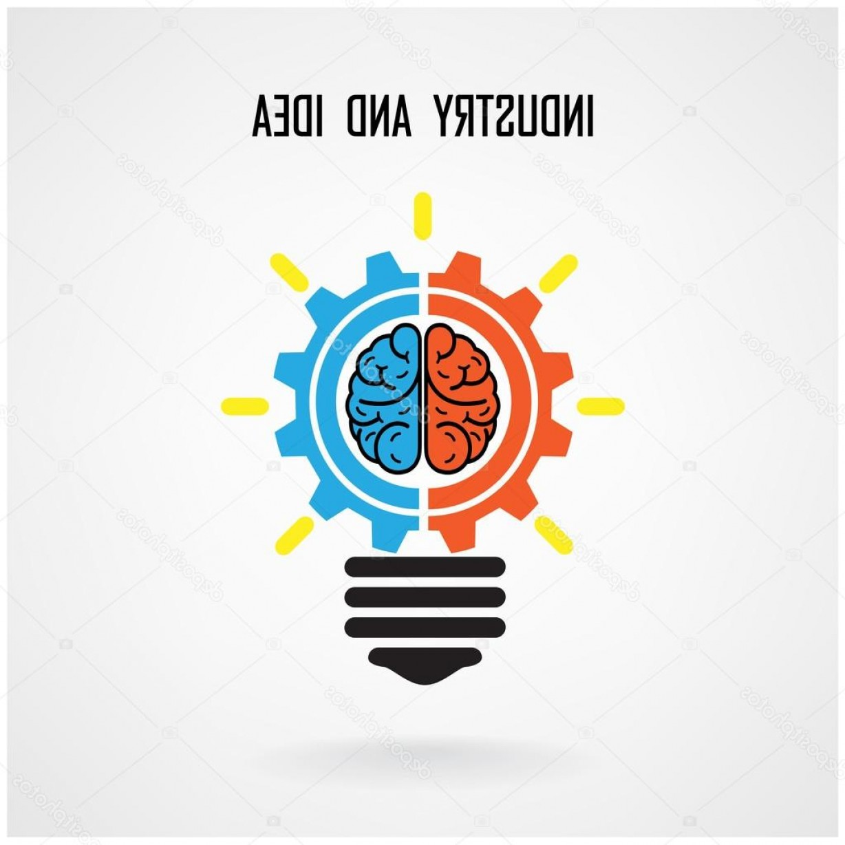 Creative Light Bulb Vector: Stock Illustration Creative Light Bulb Concept And