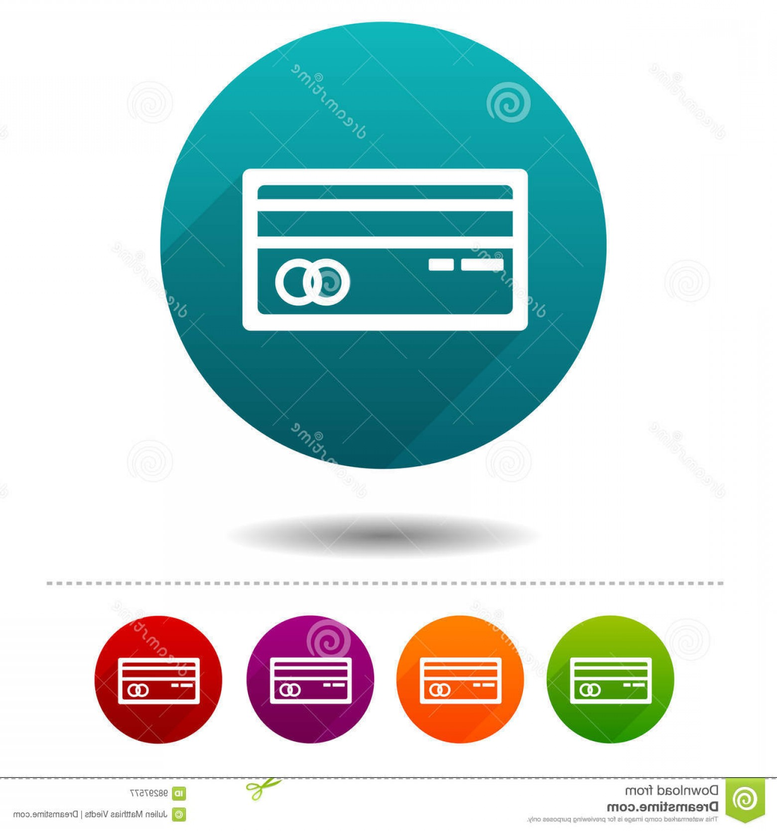 Credit Card Logos Vector: Stock Illustration Credit Card Icons Payment Signs Shopping Symbol Vector Circle Web Buttons Eps Image