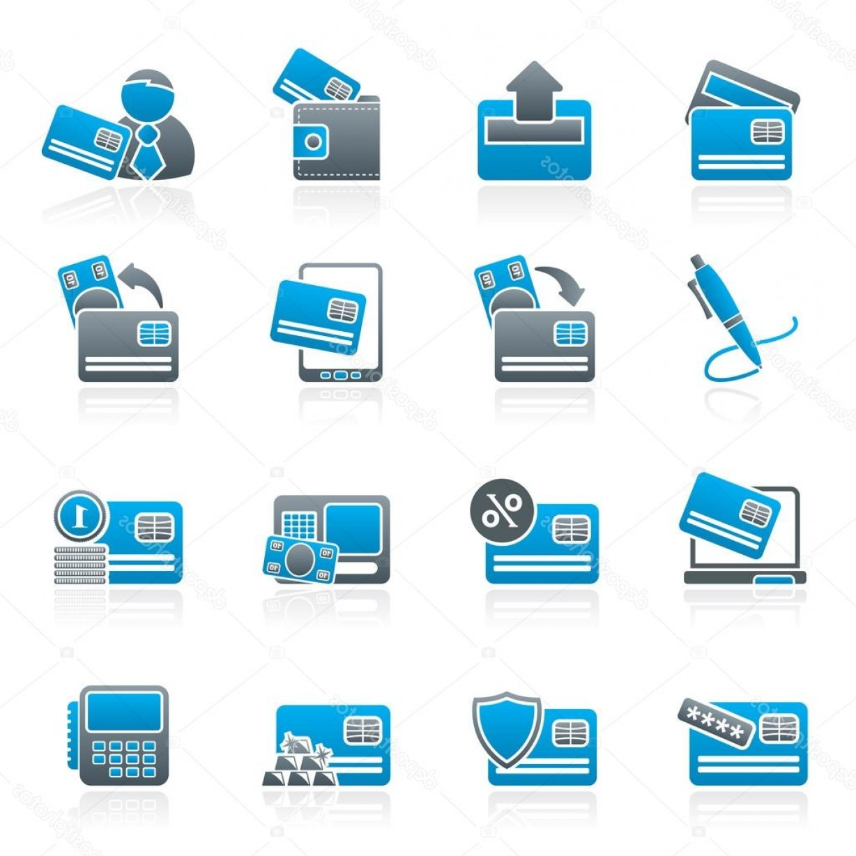 Credit Card Logos Vector: Stock Illustration Credit Card Pos Terminal And