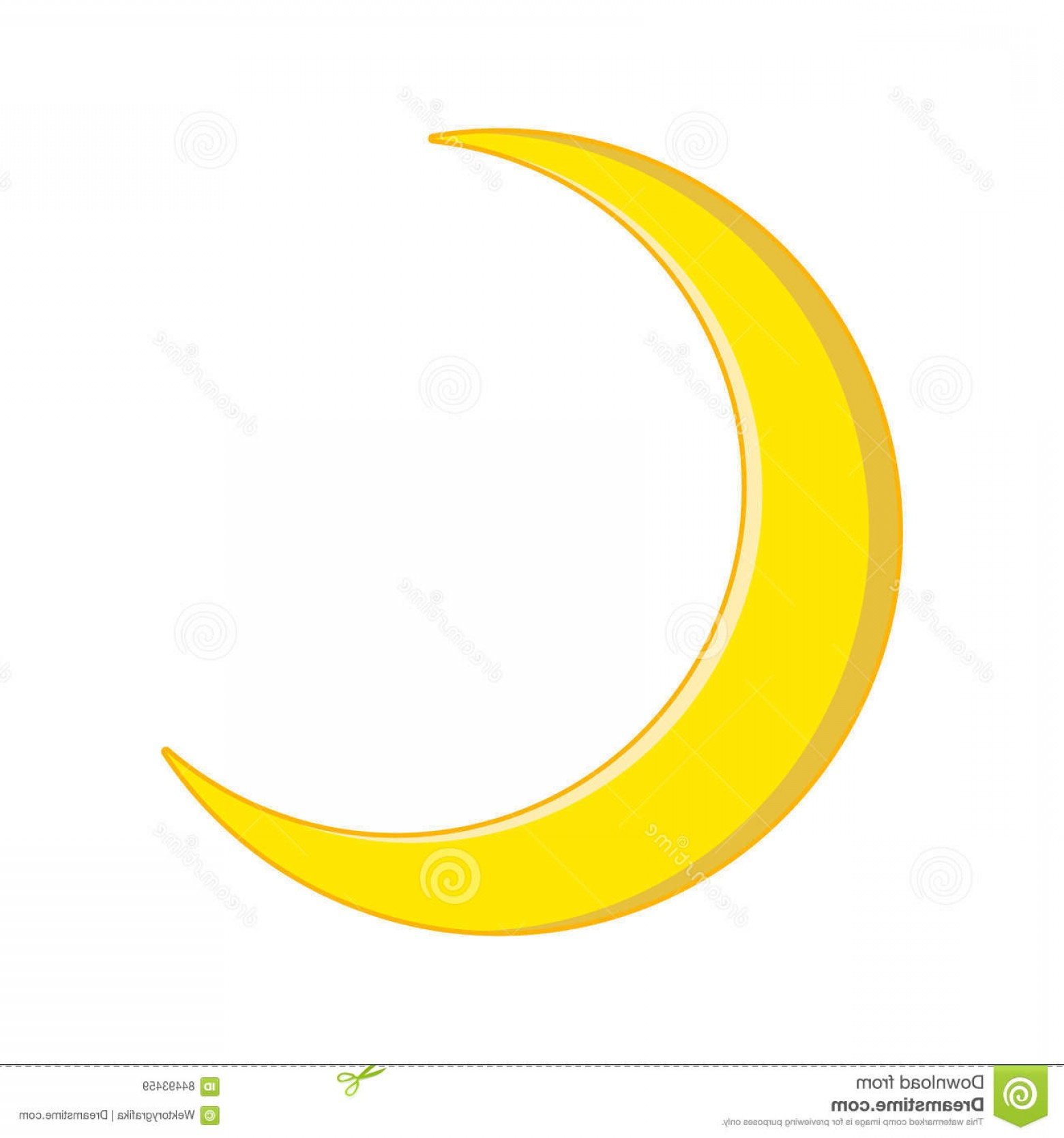Cresent Moon Vector: Stock Illustration Crescent Moon Vector Symbol Icon Design Beautiful Illustration Isolated White Background Image