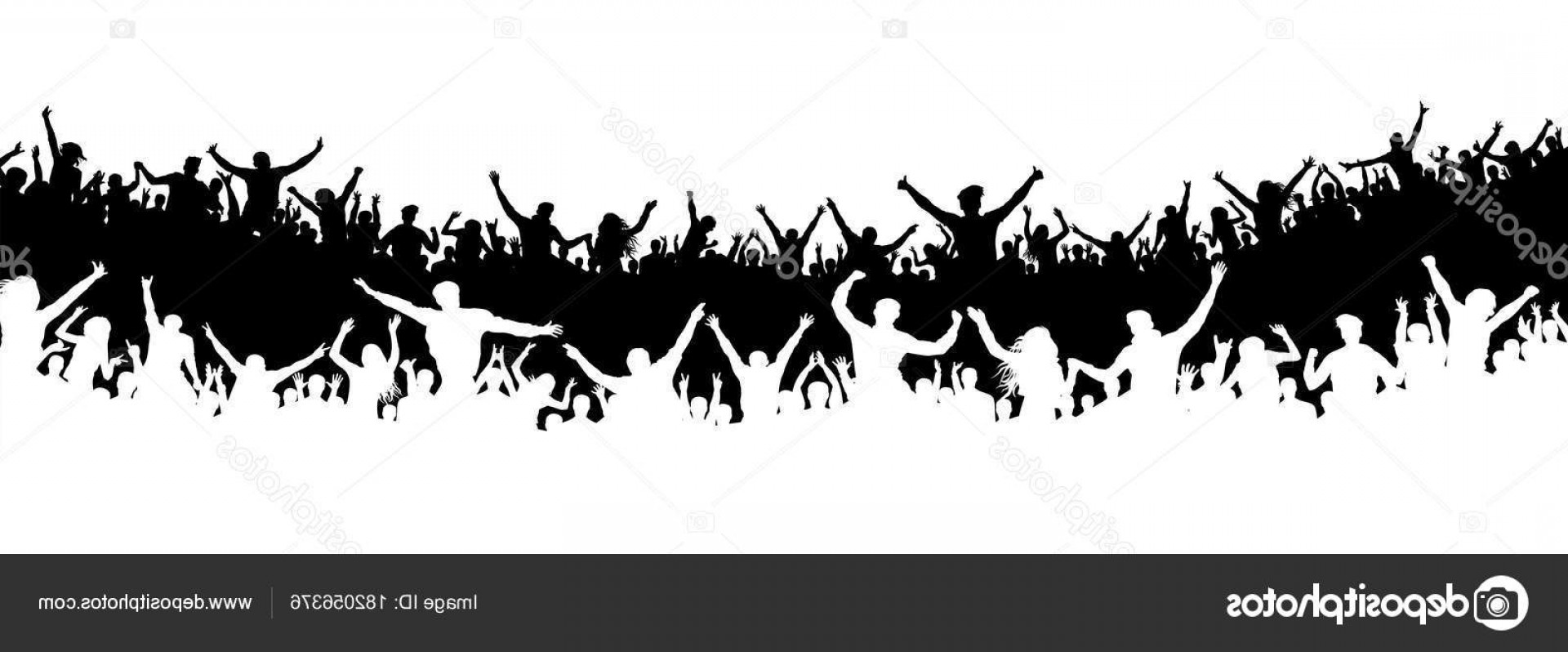 Vector Sports Crowd Cheering: Stock Illustration Crowd Of People In The