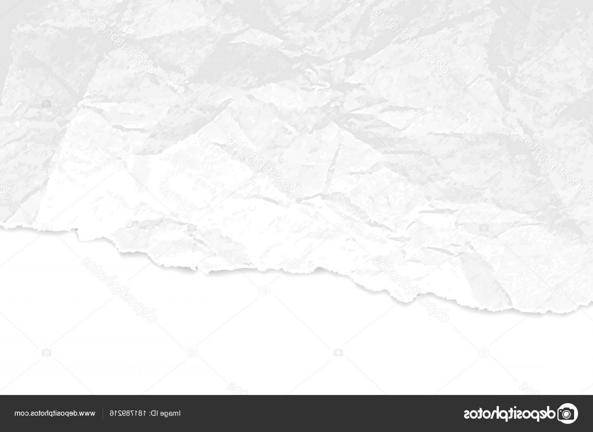 Crinkled Paper Vector: Stock Illustration Crumpled Paper Texture With Torn