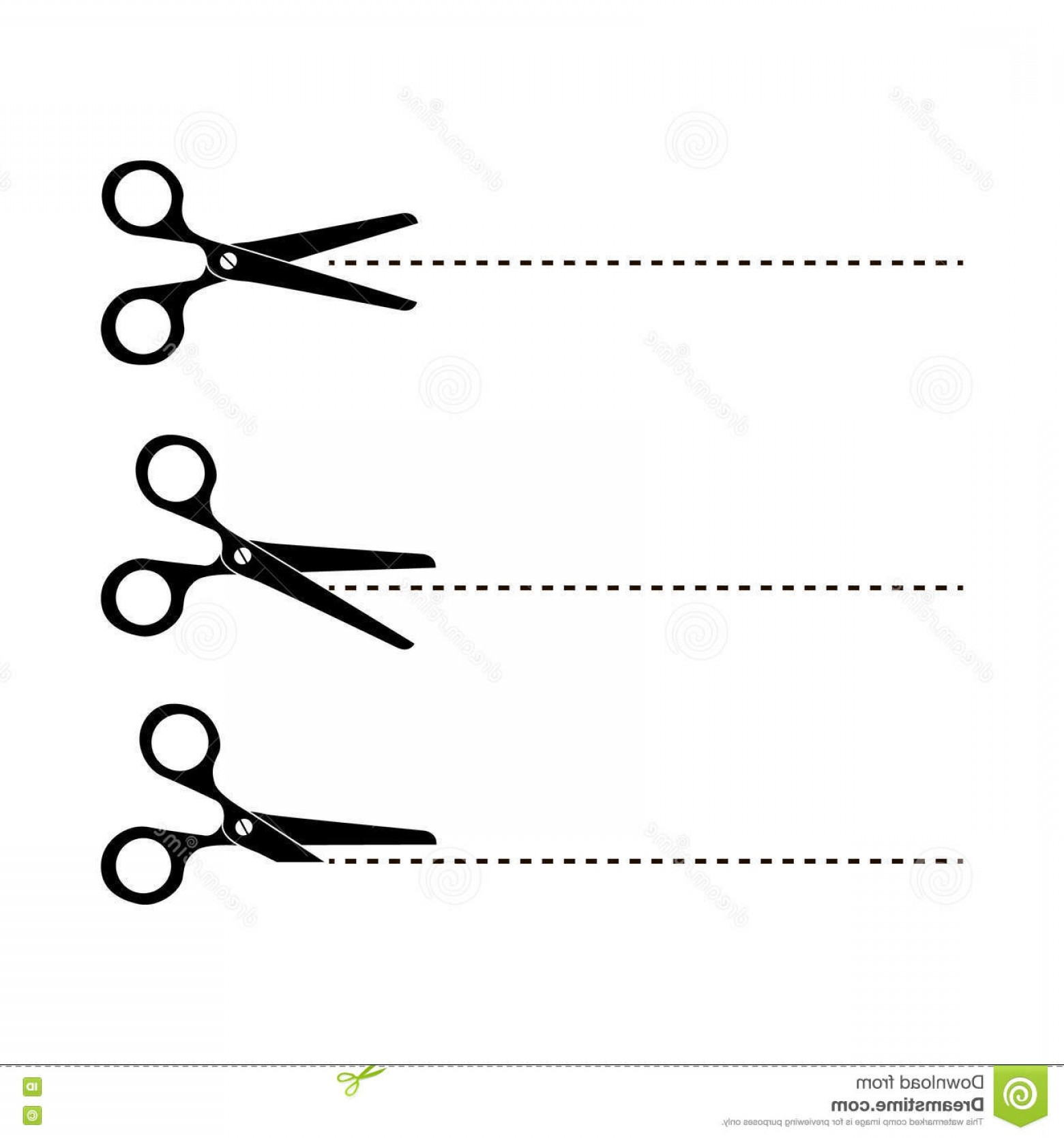 Cut Symbol Vector: Stock Illustration Cut Here Scissors Vector Illustration Symbol Dotted Line Image