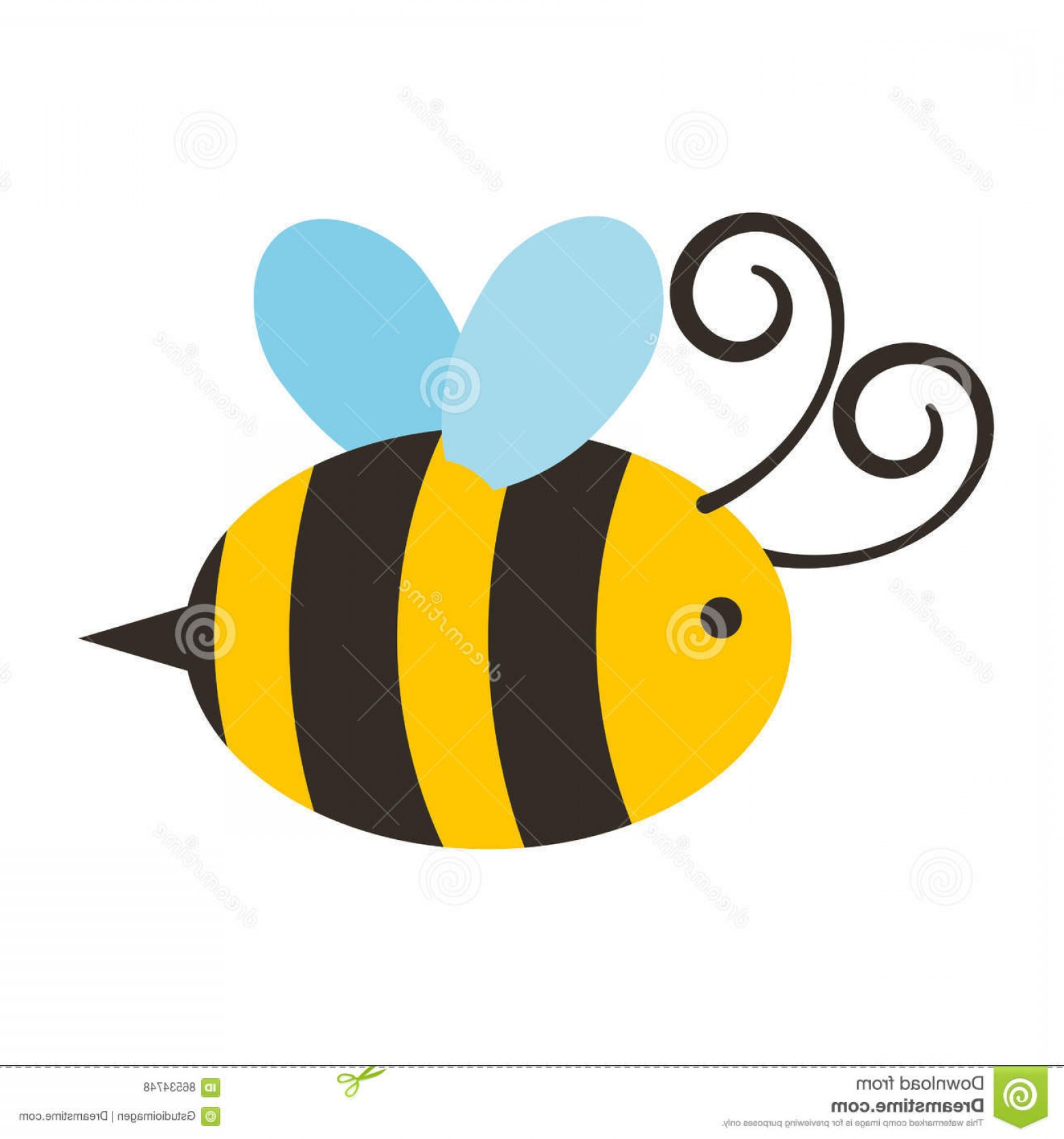 Vector Bee Icon: Stock Illustration Cute Bee Flying Icon Vector Illustration Design Image