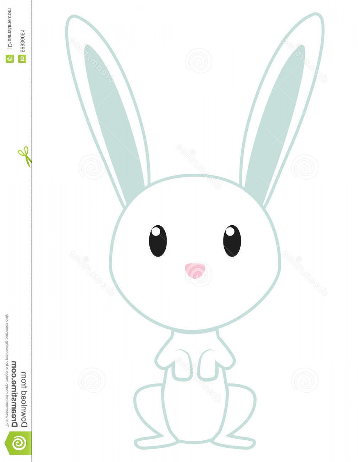 Animated Bunny Face Vector: Stock Illustration Cute Bunny Vector White As Character Image