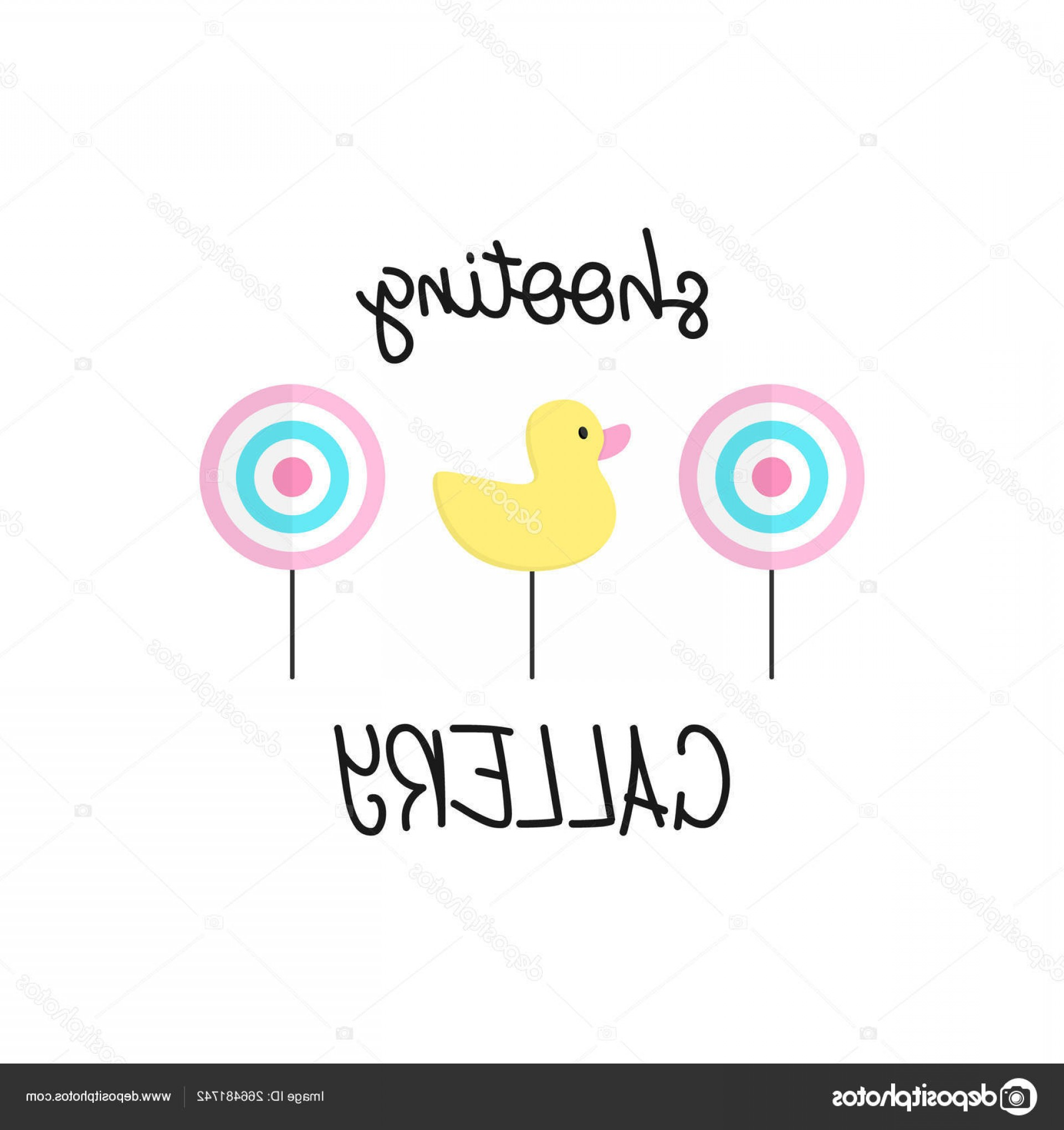 Shot Duck Outline Vector: Stock Illustration Cute Shooting Gallery Vector Graphic