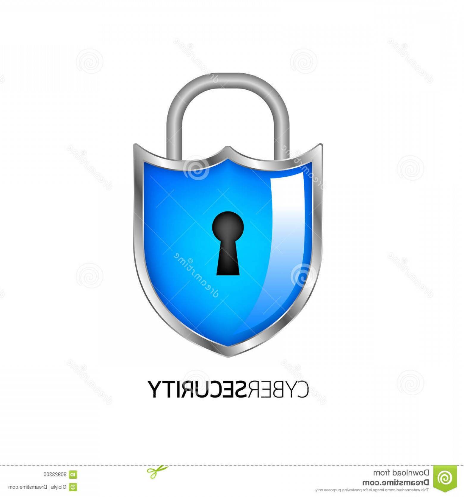 Cyber Defense Vector: Stock Illustration Cyber Security Logo Design Guard Concept Shield Lock Illustration Isolated White Background Image