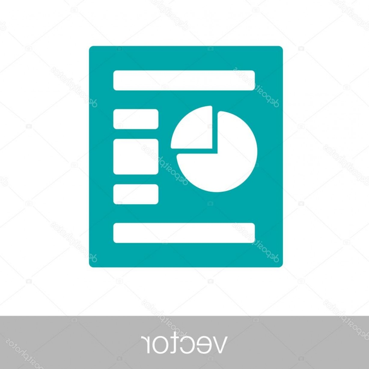 Report Icon Vector: Stock Illustration Data Analysis Report Icon