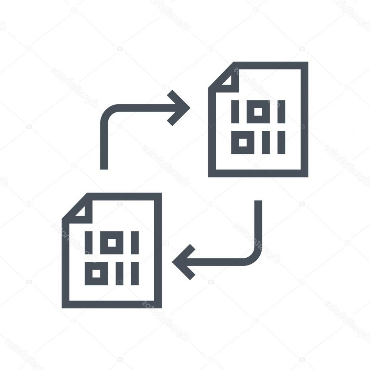 Vector Data Exchange: Stock Illustration Data Exchange Transfer Icon