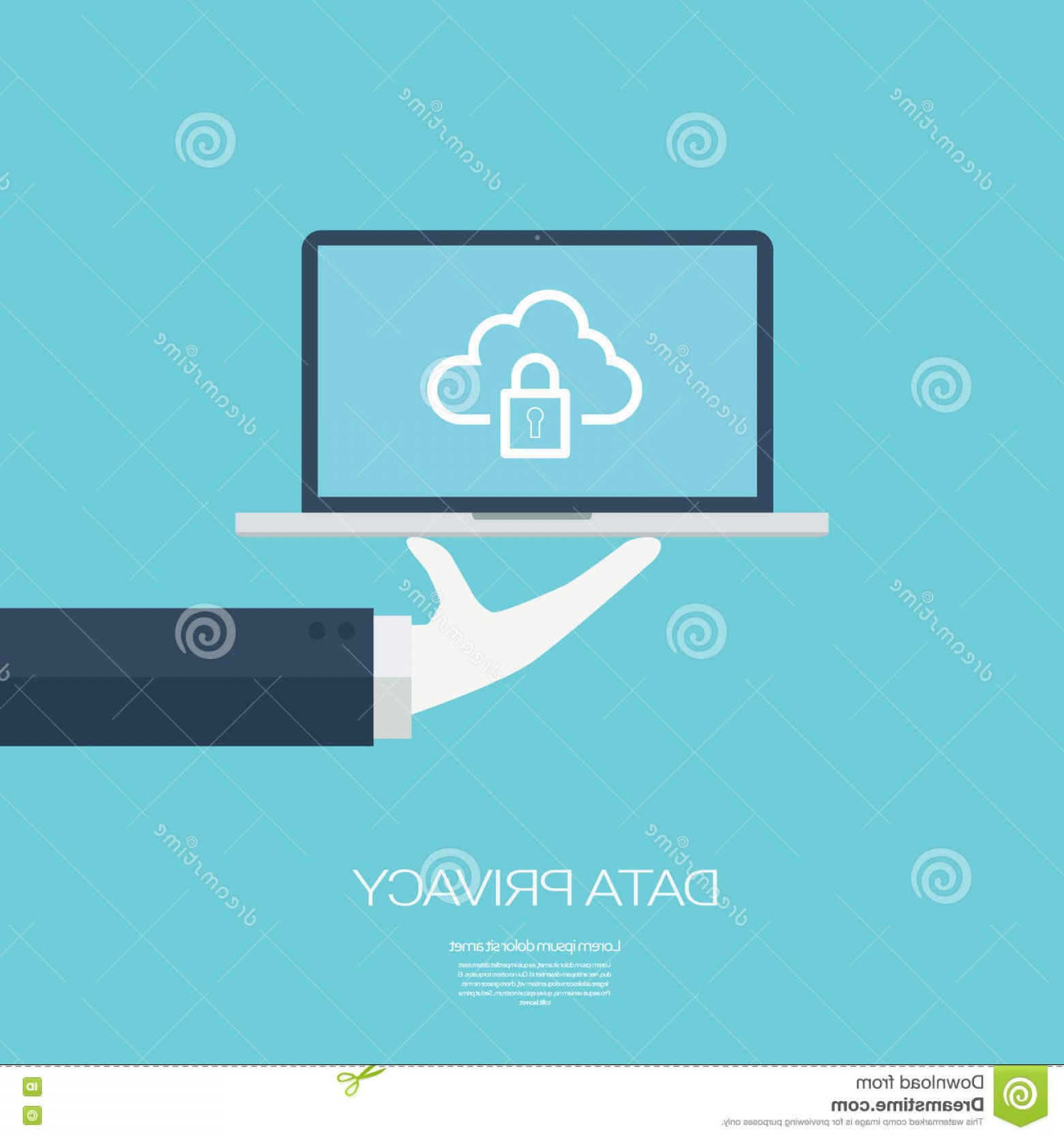 Vector Applications On Computers: Stock Illustration Data Privacy Cloud Computing Technology Digital Devices Icons Applications Computers Eps Vector Illustration Image