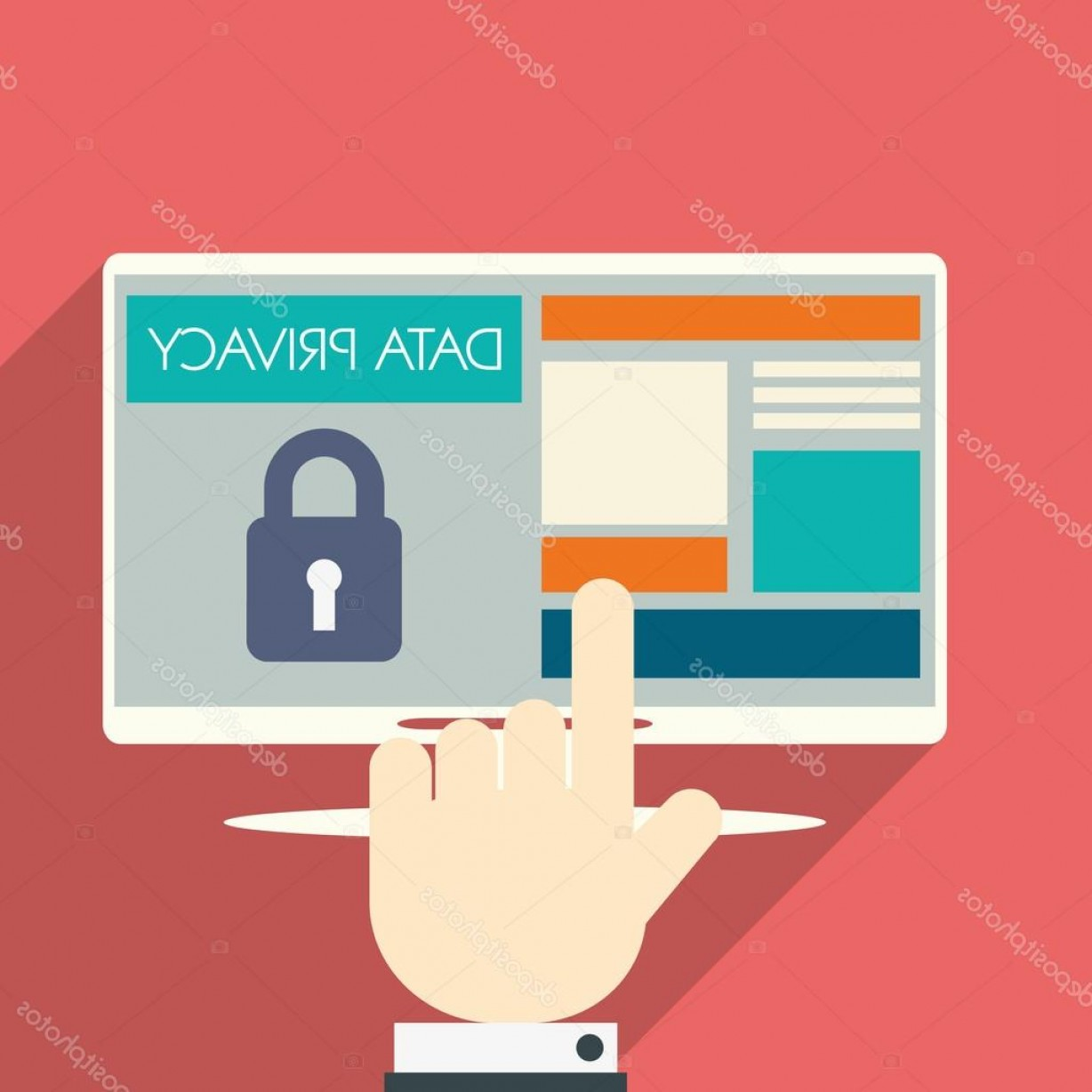 Vector Applications On Computers: Stock Illustration Data Privacy In Cloud Computing