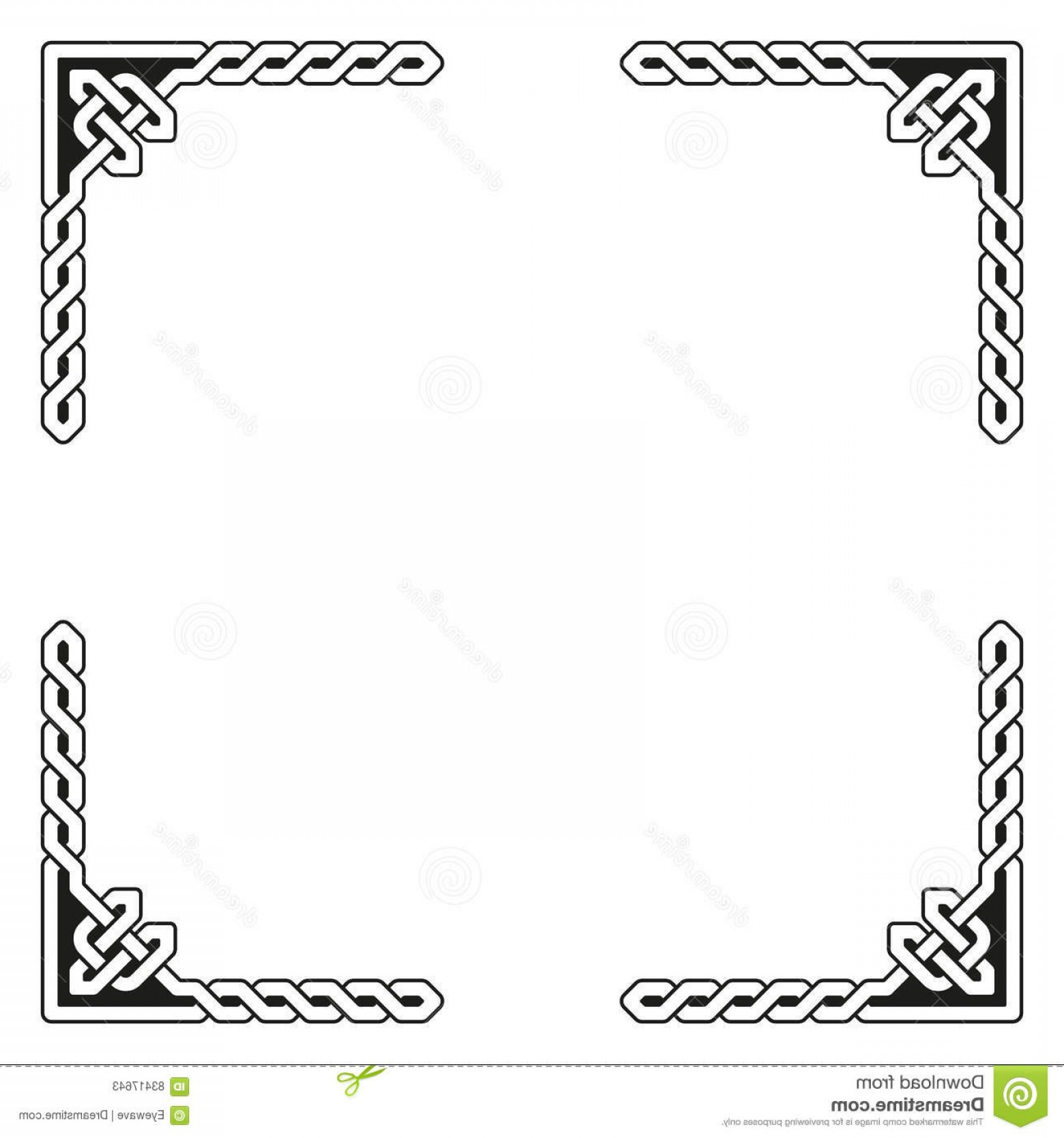 Medieval Frames Vector: Stock Illustration Decorative Celtic Frame Vector Illustration Traditional Braided Elements Image