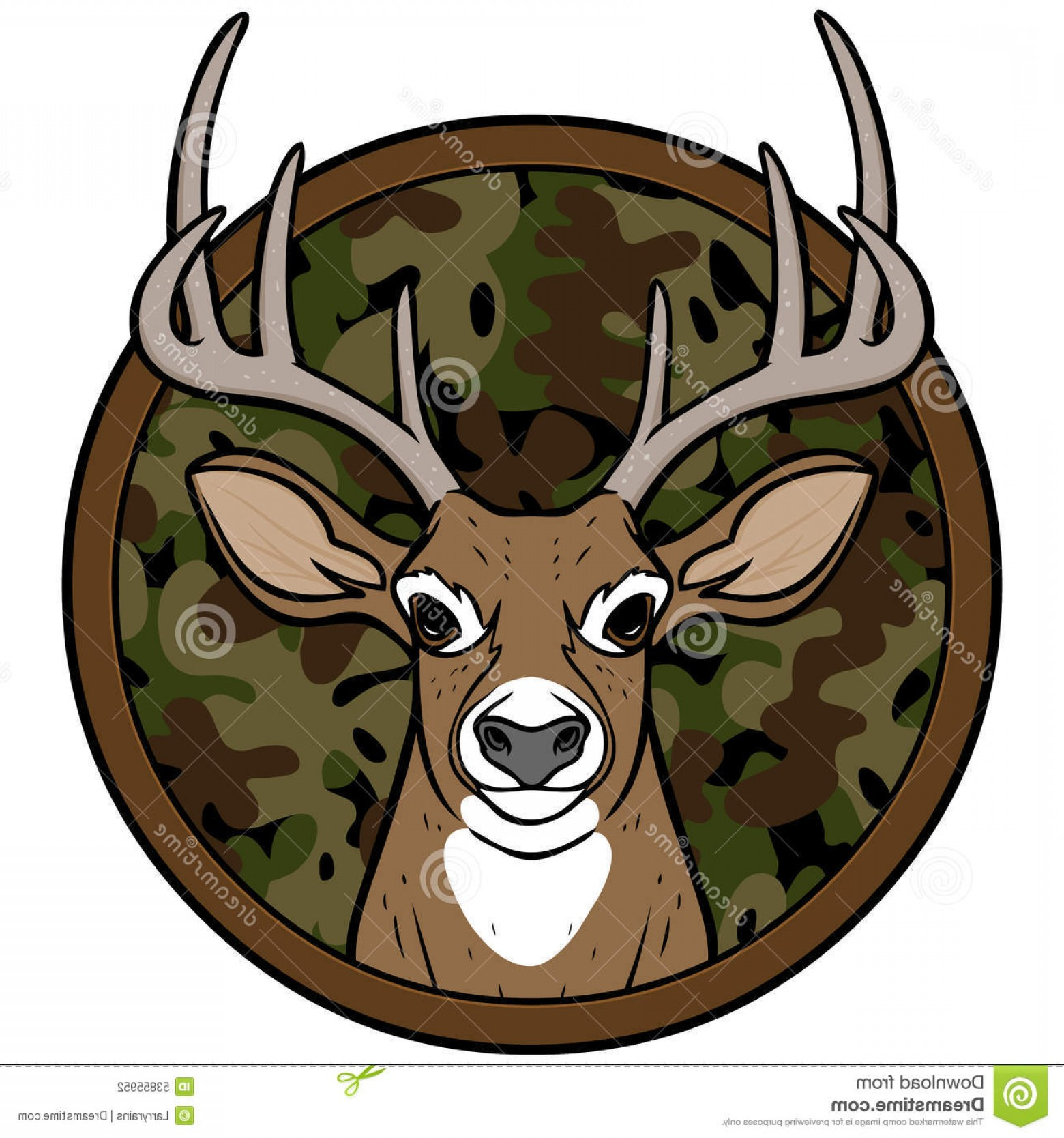 Vector Clip Art Hunting: Stock Illustration Deer Hunting Insignia Vector Illustration Image