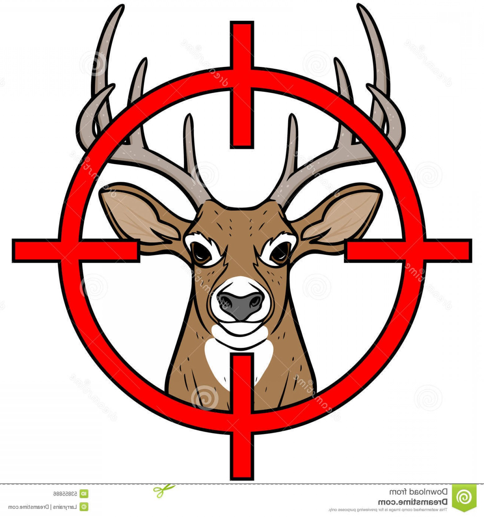 Vector Clip Art Hunting: Stock Illustration Deer Hunting Vector Illustration Insignia Image